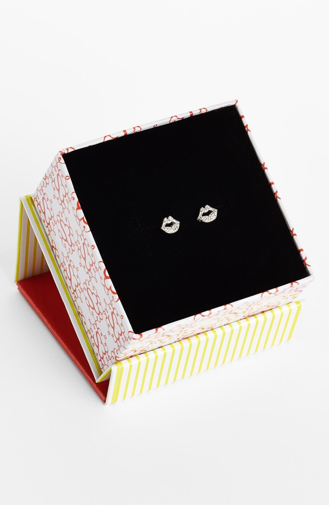 Alternate Image 3  - Sugar Bean Jewelry Lips Stud Earrings