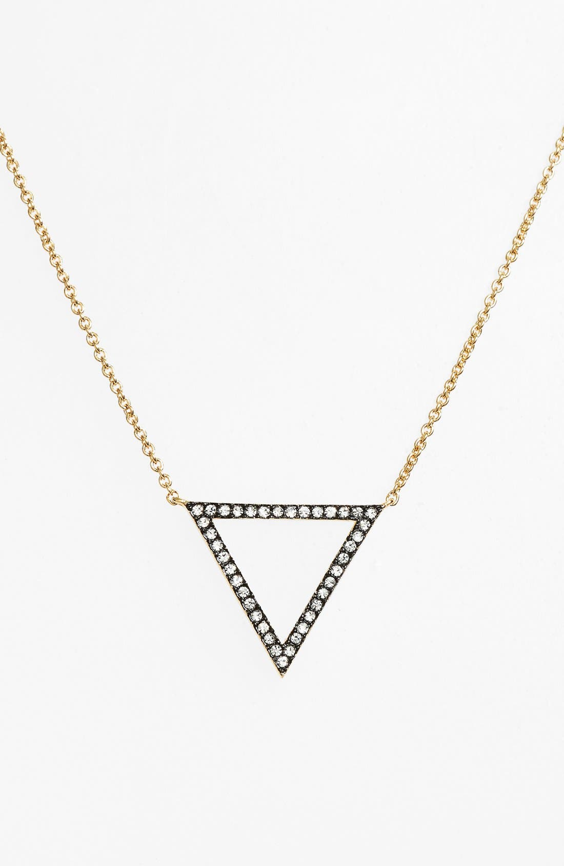 Alternate Image 1 Selected - Nadri Triangle Pendant Necklace
