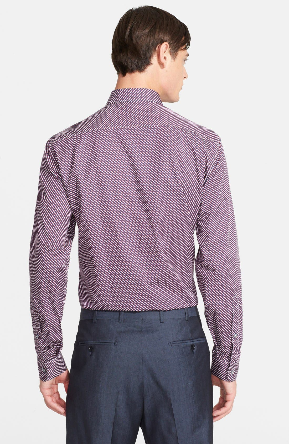 Alternate Image 3  - Paul Smith London 'Byard' Trim Fit Dot Print Dress Shirt