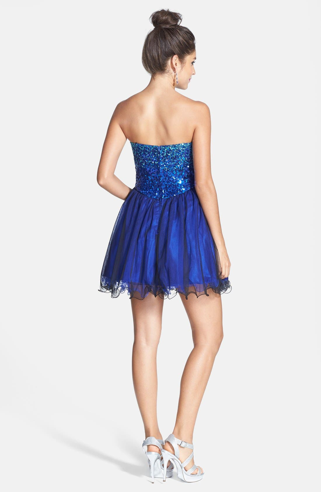 Alternate Image 2  - Steppin Out Embellished Party Dress (Juniors)