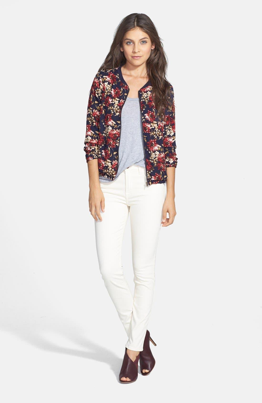 Alternate Image 2  - Olive & Oak Floral Print Bomber Jacket