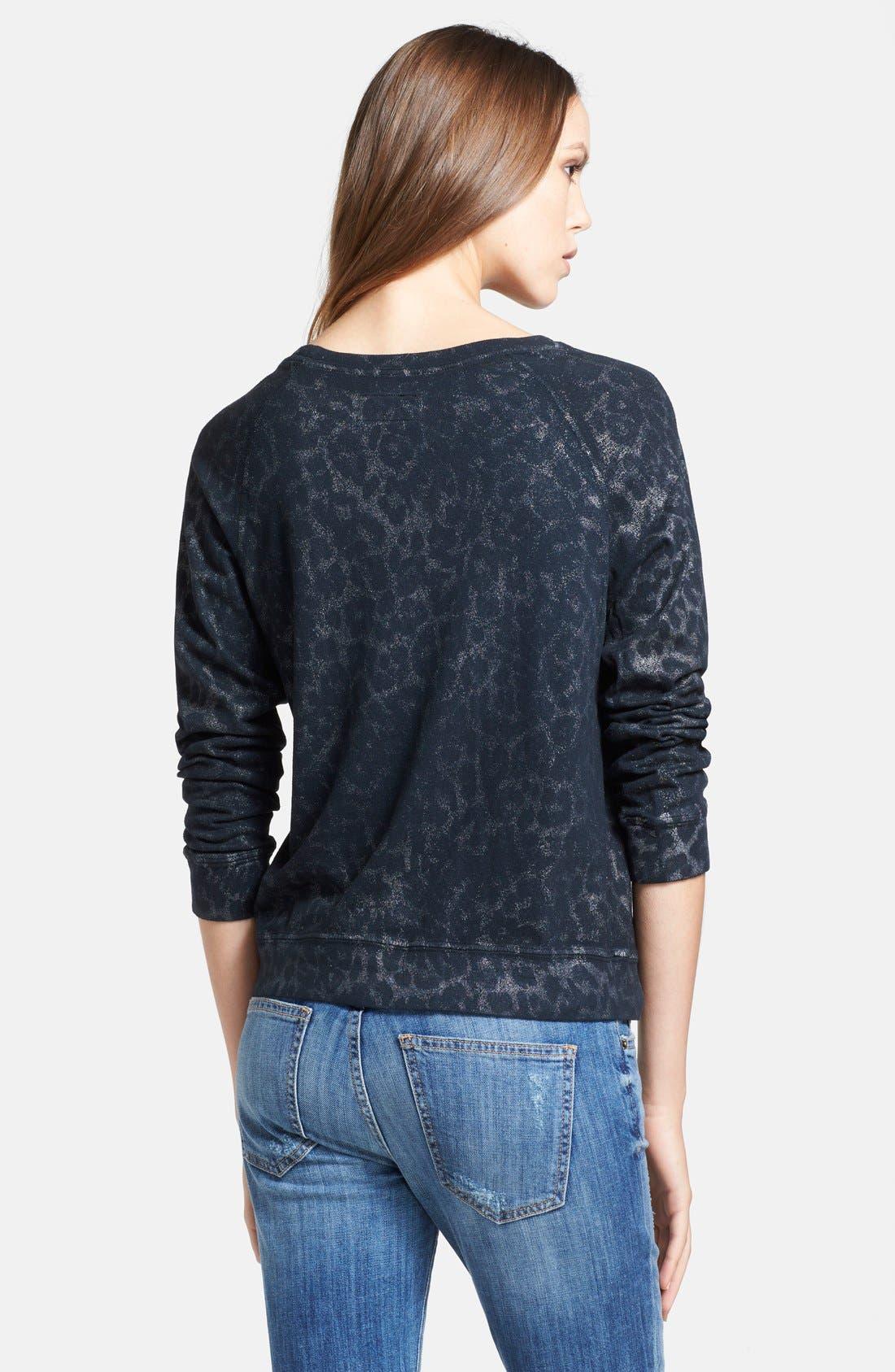 Alternate Image 2  - Current/Elliott 'The Letterman' Print Destroyed Sweatshirt