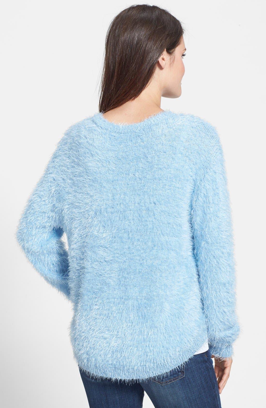 Alternate Image 2  - Vince Camuto Eyelash Knit Sweater (Petite)