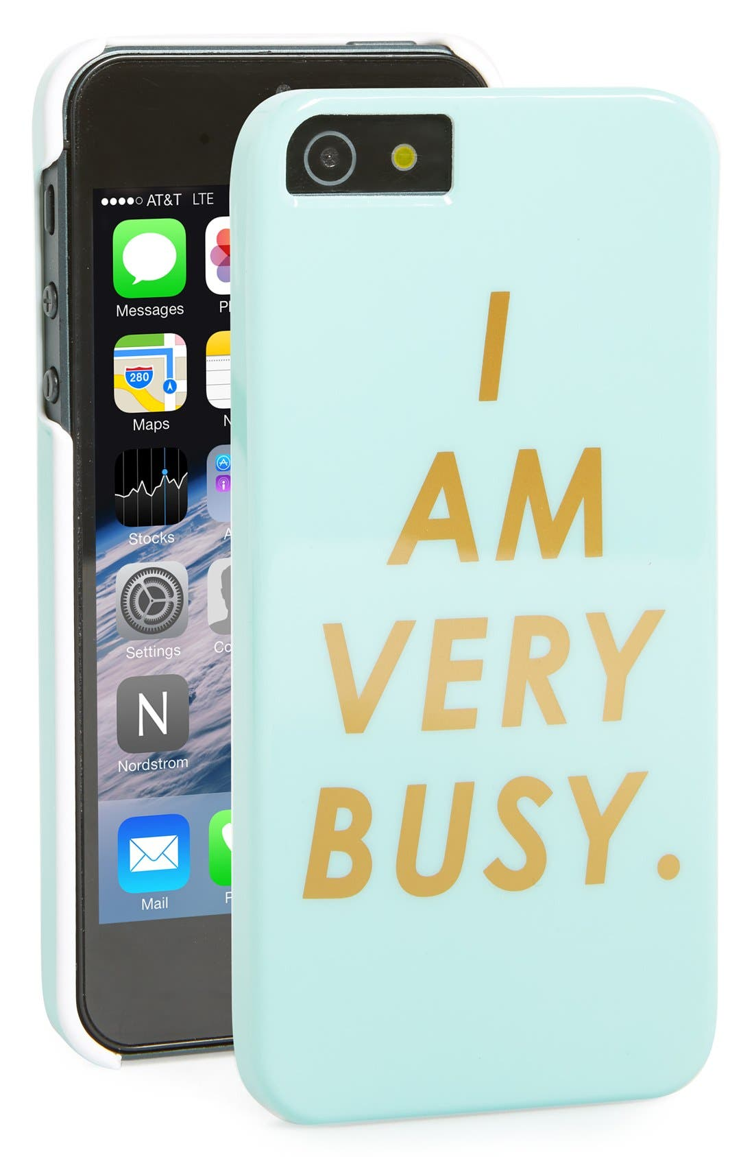 Main Image - ban.do 'I Am Very Busy' iPhone 5 & 5s Case