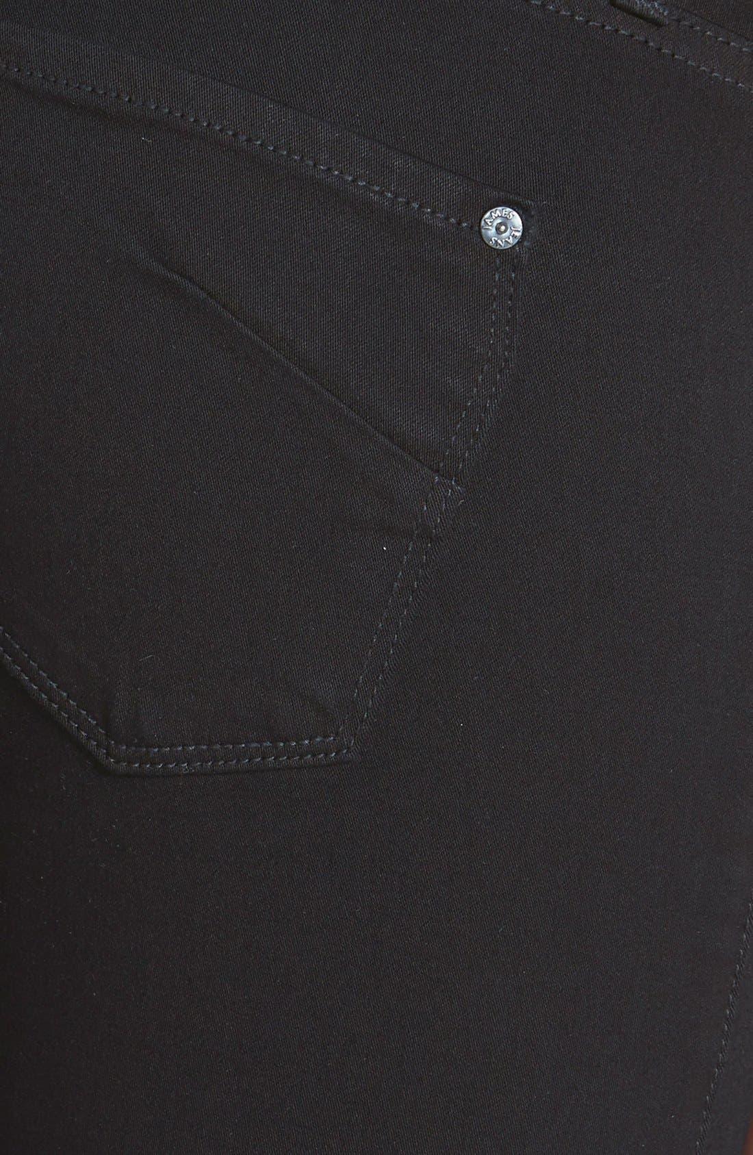 Alternate Image 3  - James Jeans 'Twiggy' Five Pocket Leggings (Black Clean)