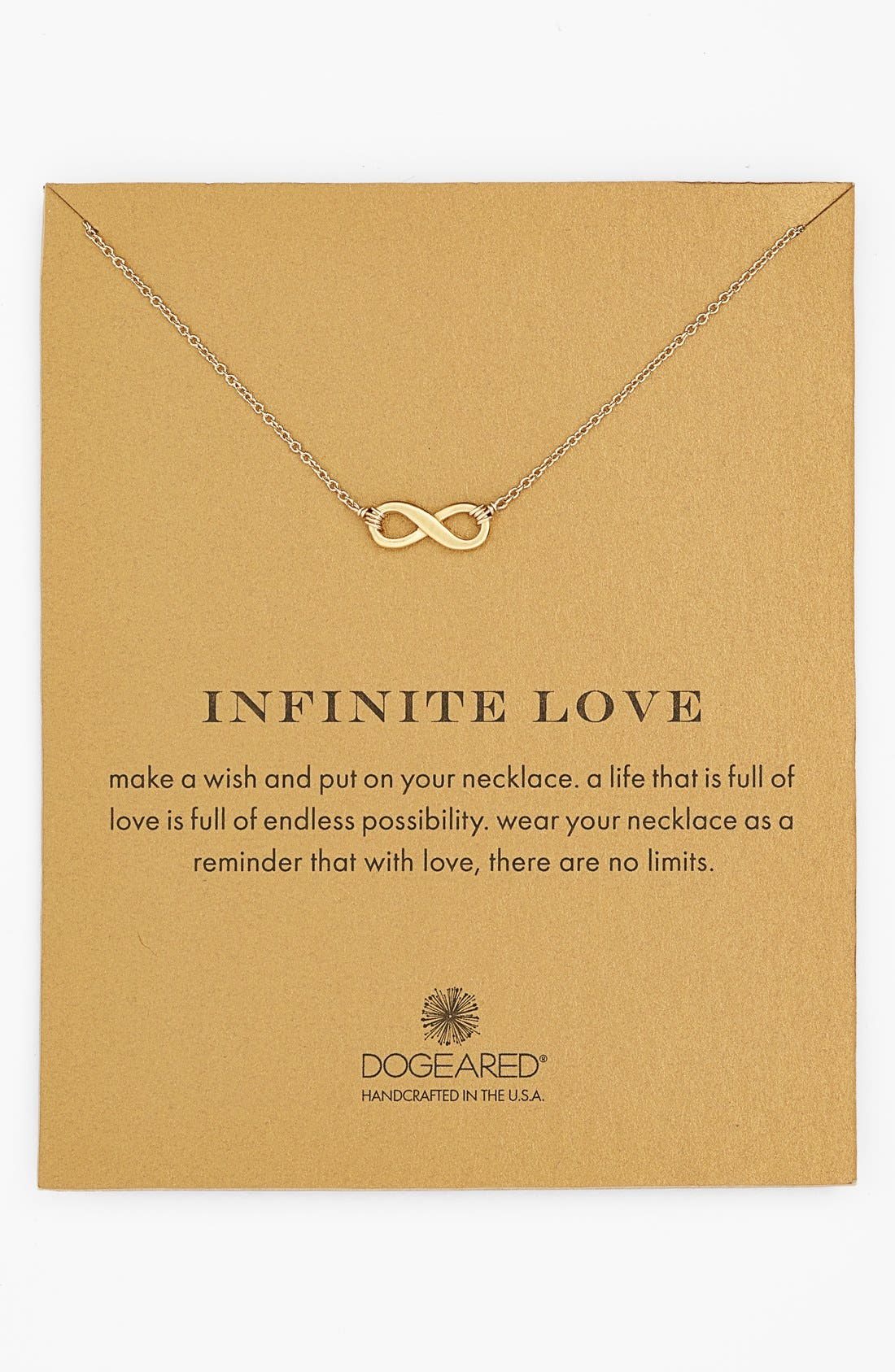 Alternate Image 1 Selected - Dogeared 'Reminder - Infinite Love' Pendant Necklace