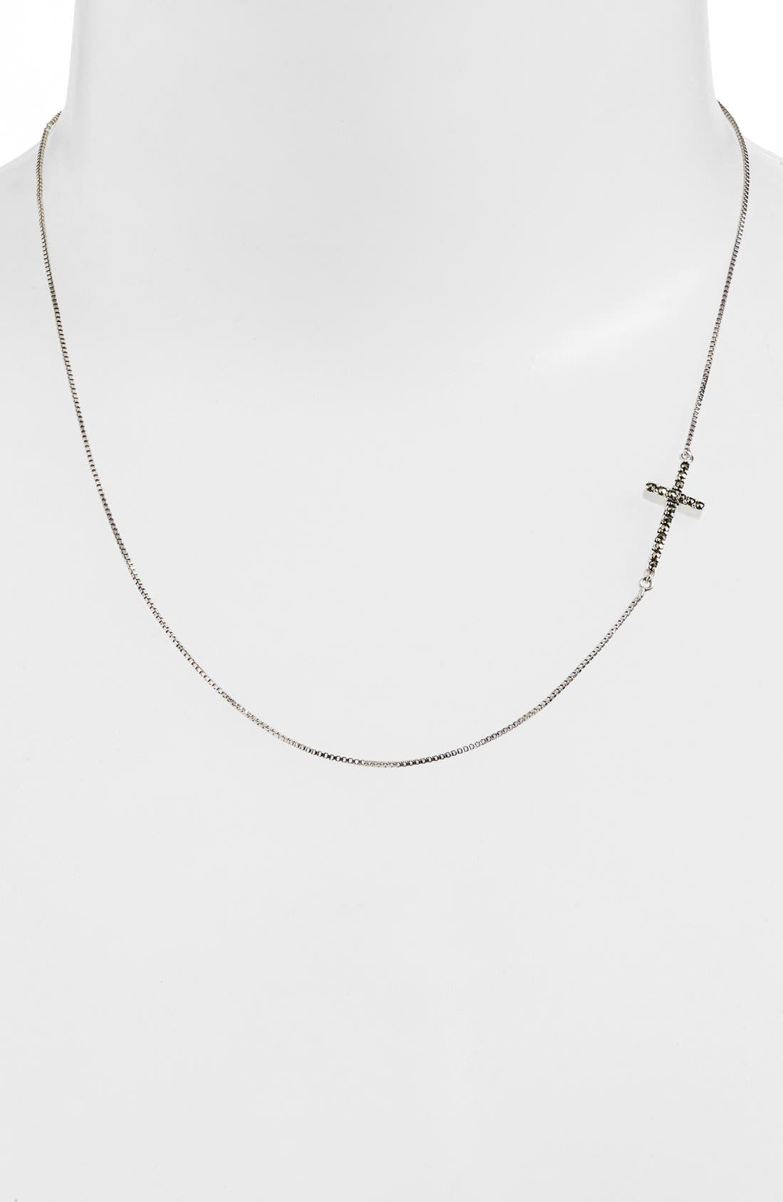 Alternate Image 2  - Judith Jack Reversible Pavé Cross Pendant Necklace