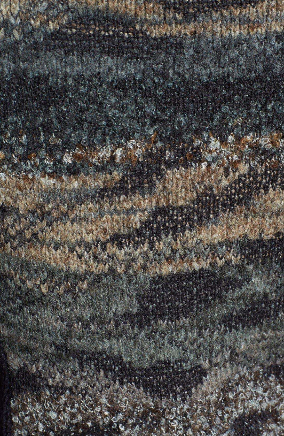 Alternate Image 3  - Curio Camo Moto Sweater (Petite)
