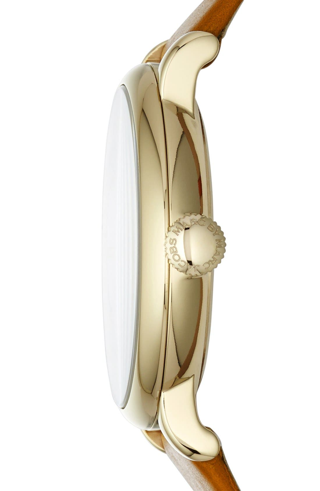 Alternate Image 3  - MARC JACOBS 'Baker' Leather Strap Watch, 37mm