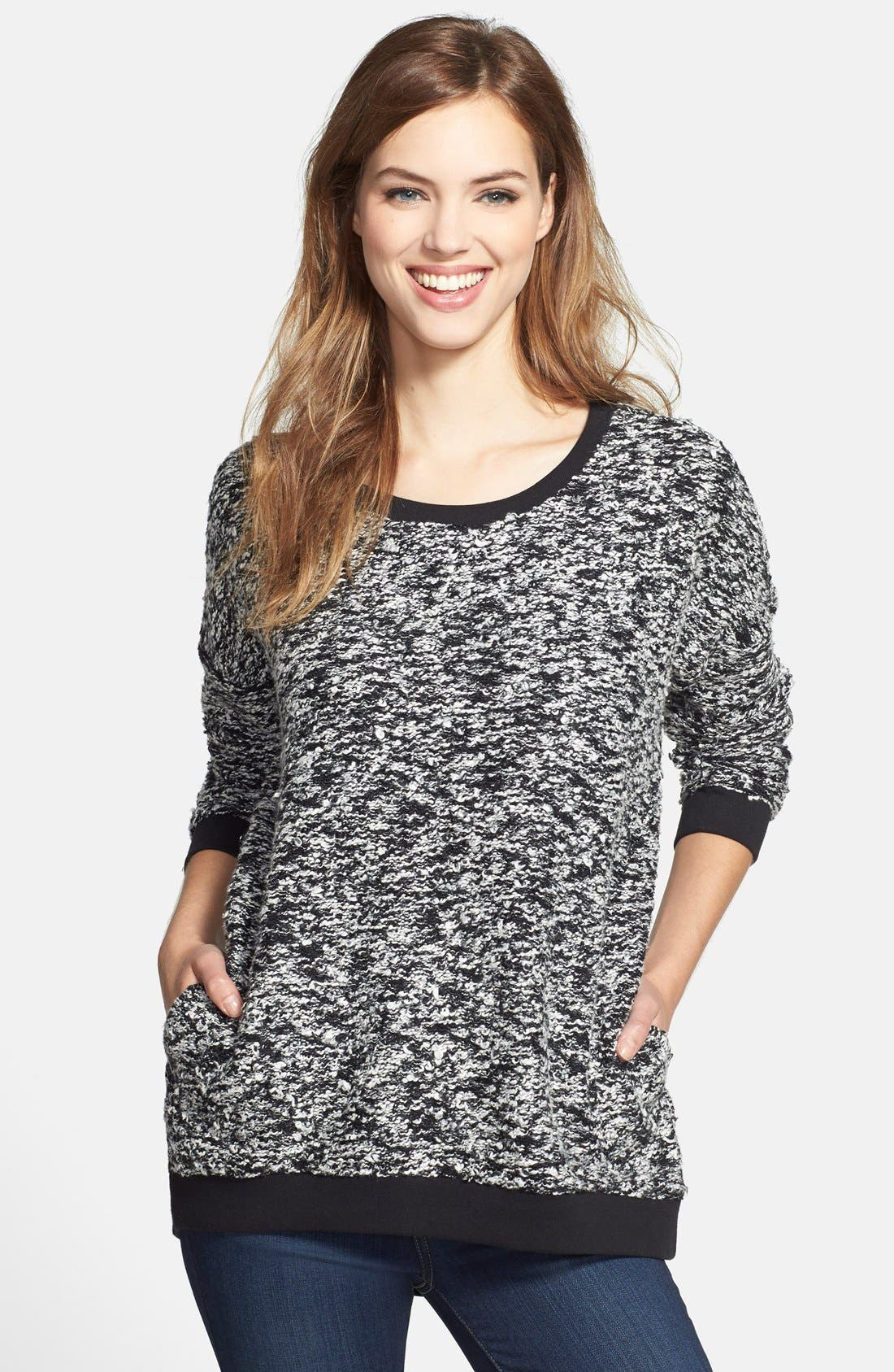 Alternate Image 1 Selected - Lucky Brand Bouclé Pullover