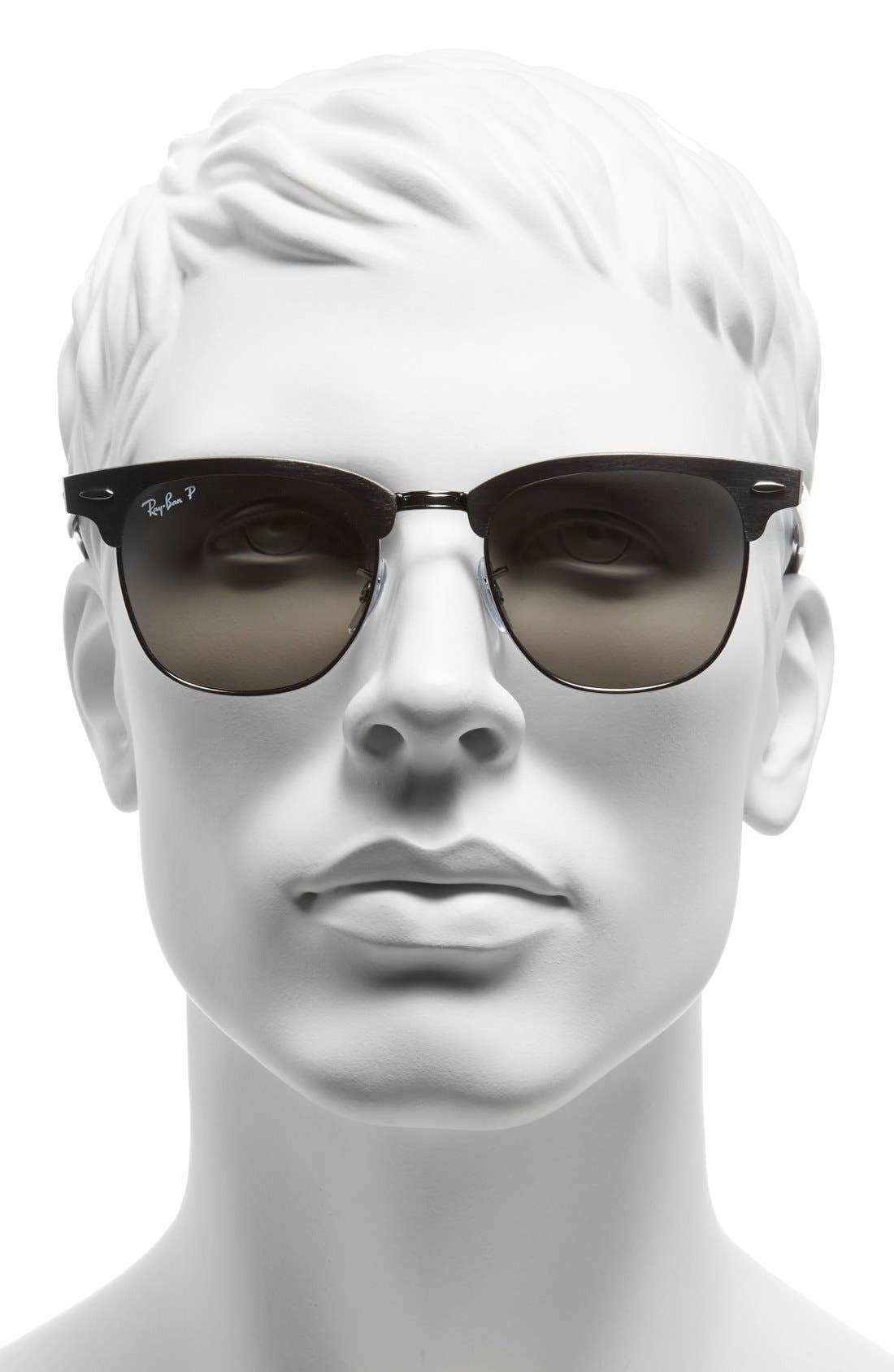 Alternate Image 2  - Ray-Ban 'Clubmaster - Modern Temple' Polarized Sunglasses