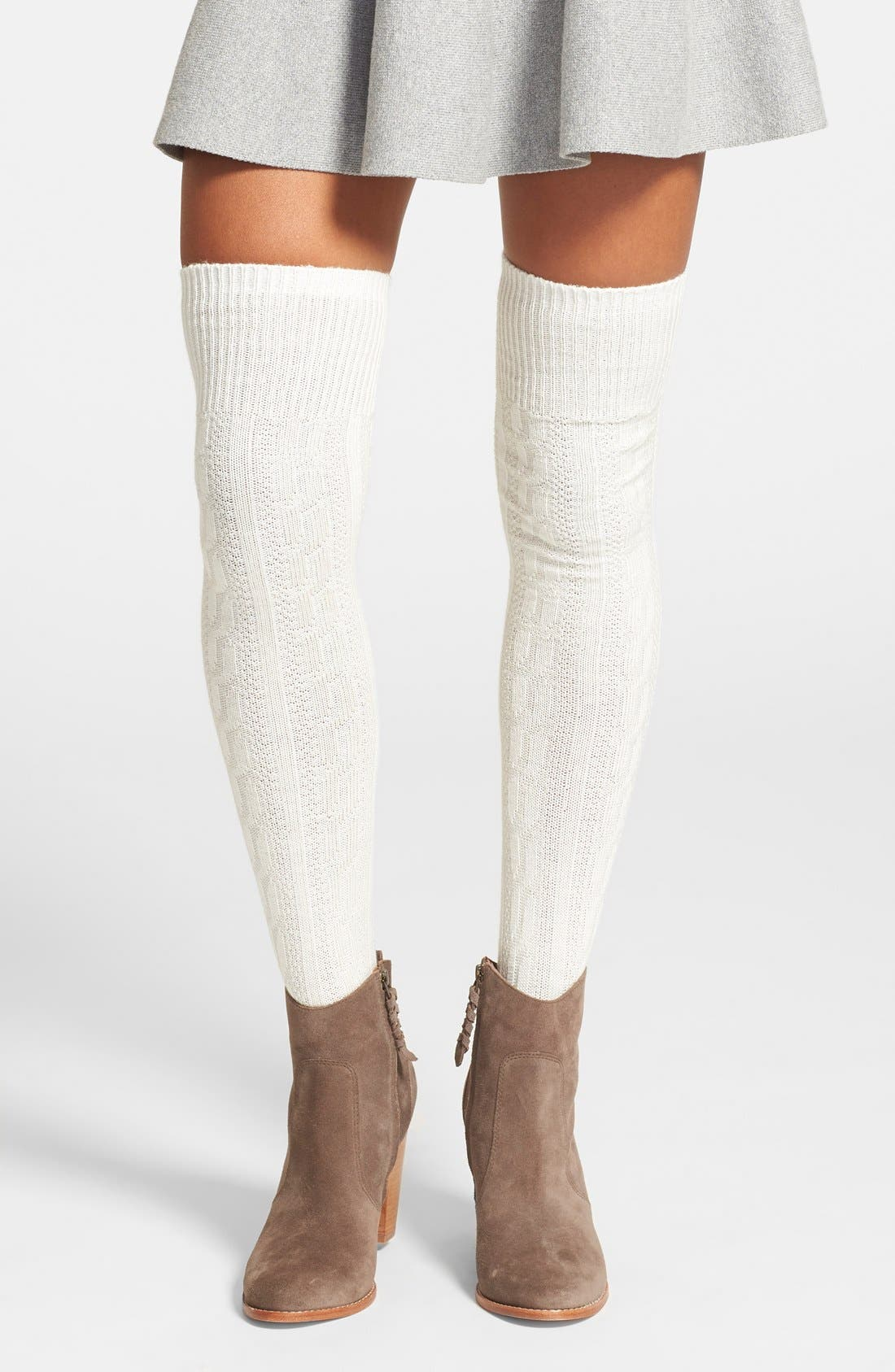 Main Image - Hue Chunky Cable Knit Over the Knee Socks