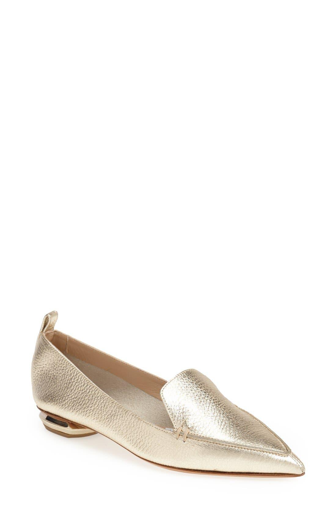 Alternate Image 1 Selected - Nicholas Kirkwood Pointed Toe Loafer (Women)