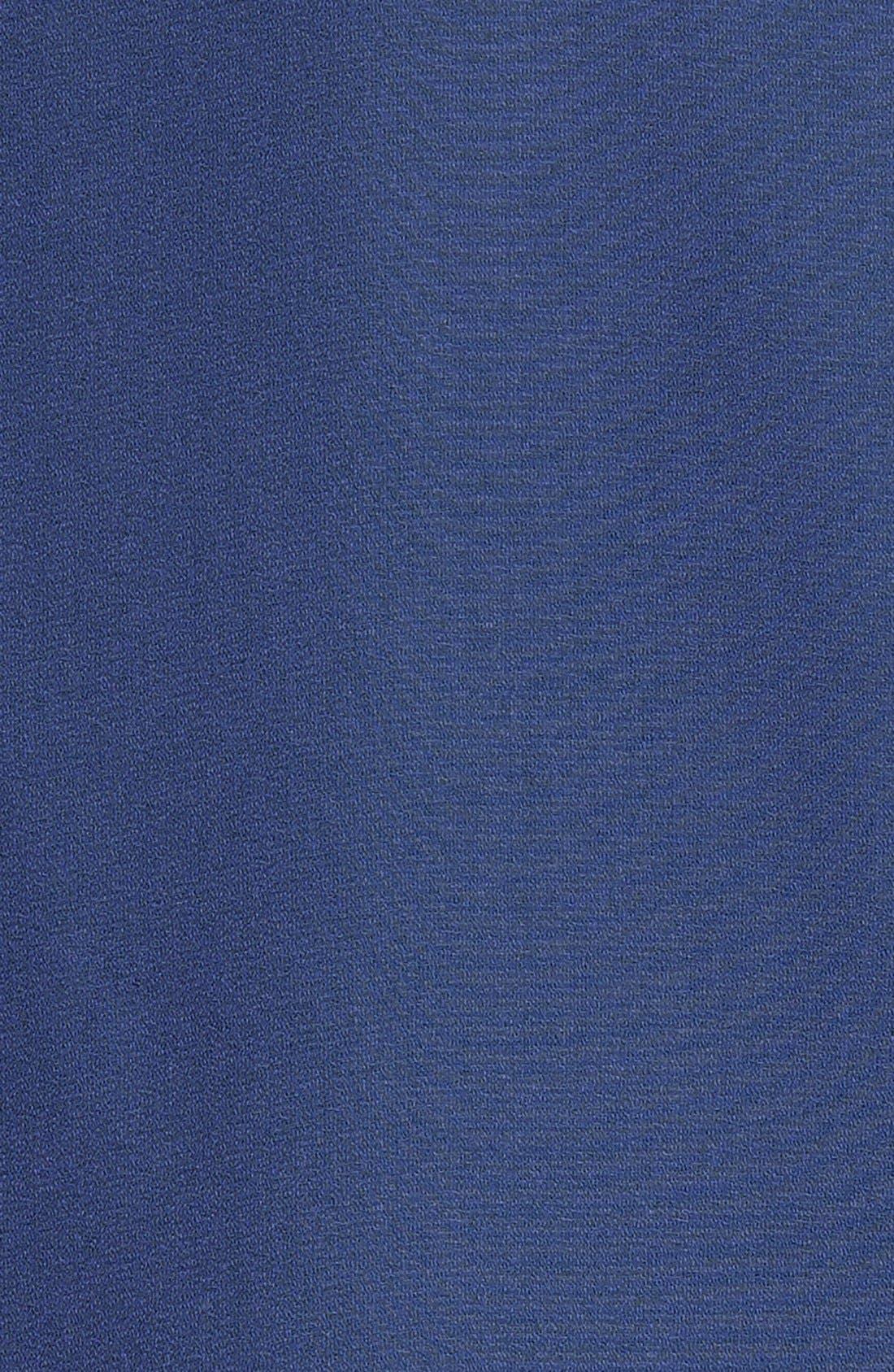 Alternate Image 3  - Bobeau Mixed Media Stripe Roll Sleeve Tee