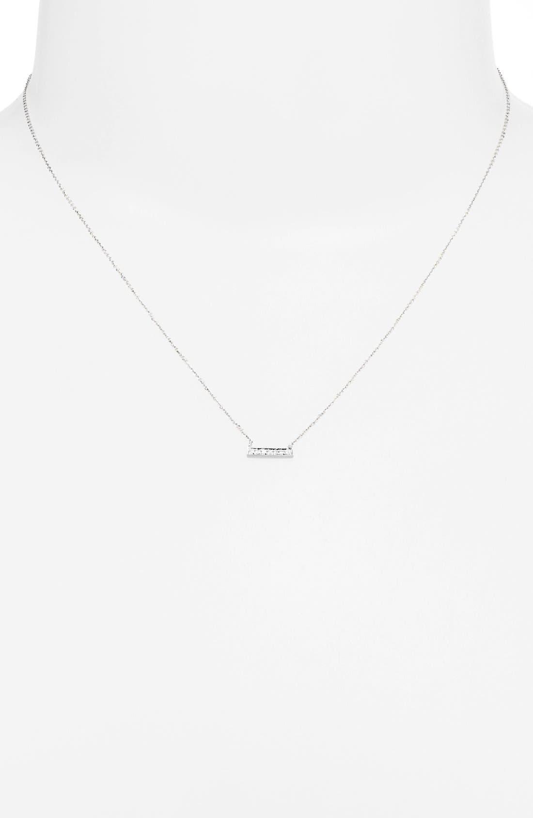 Alternate Image 2  - Dana Rebecca Designs 'Sylvie Rose' Diamond Bar Pendant Necklace
