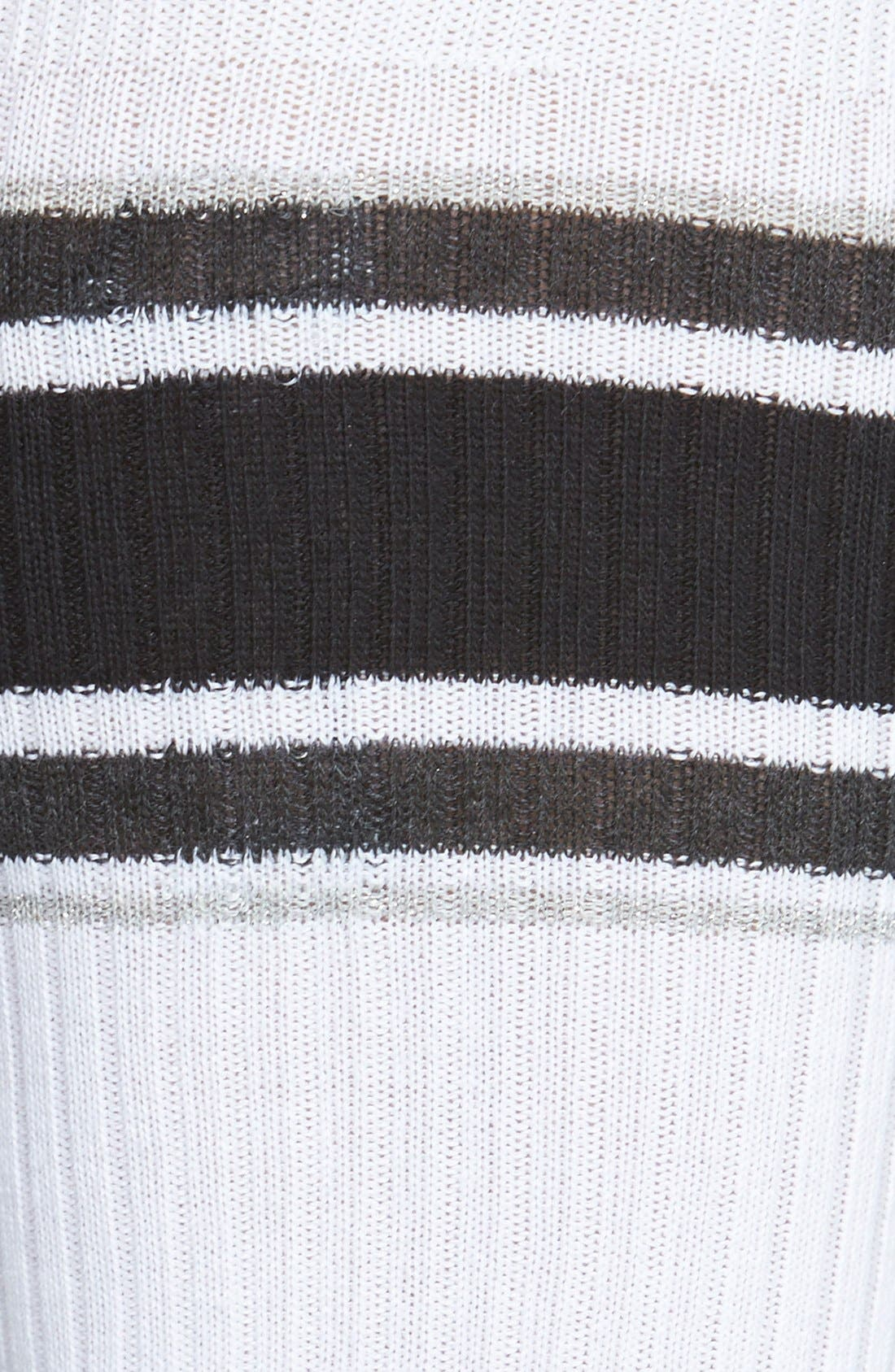 Alternate Image 2  - Hot Sox Athletic Stripe Knee High Socks