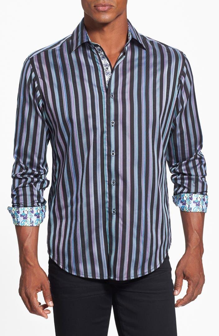 Robert graham 39 shipwreck 39 classic fit stripe sport shirt for Robert graham sport shirt