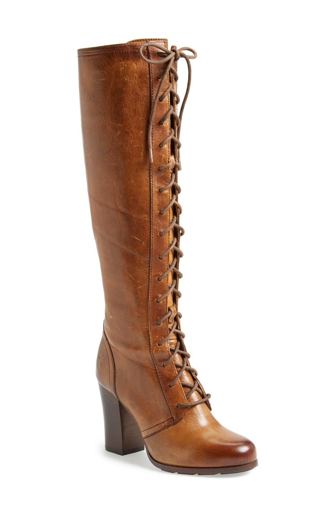 Alternate Image 1 Selected - Frye 'Parker' Lace-Up Tall Boot (Women)