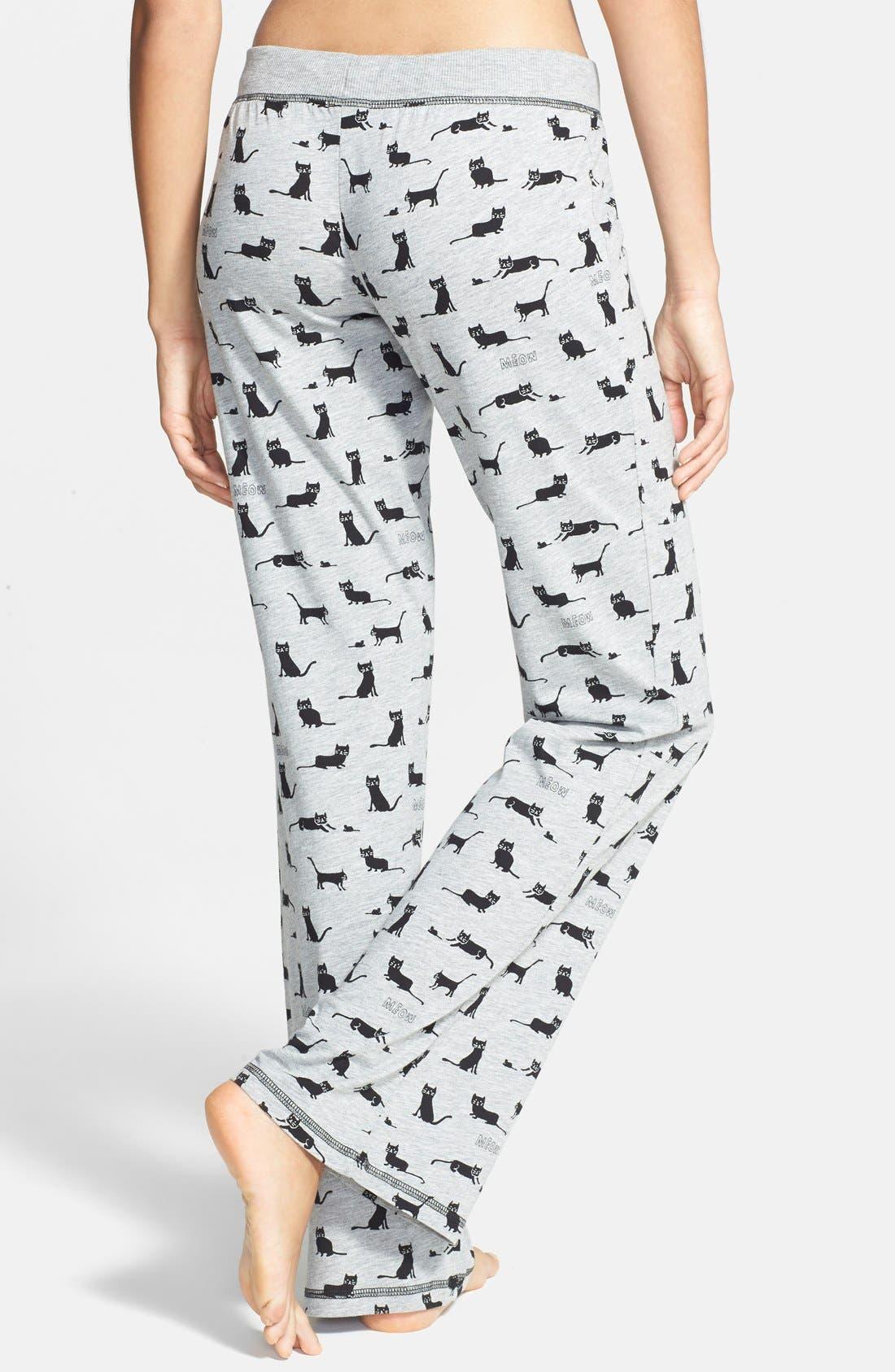 Alternate Image 2  - COZY ZOE Print Pajama Pants