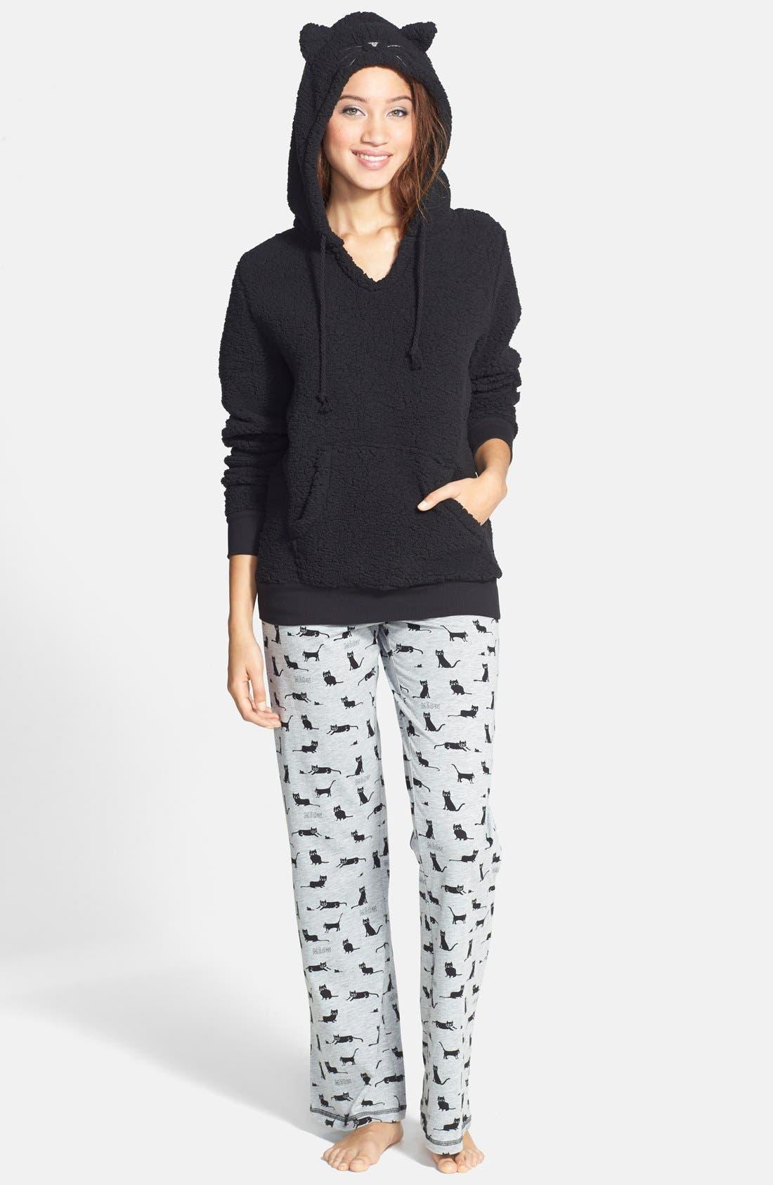 Alternate Image 4  - COZY ZOE Print Pajama Pants