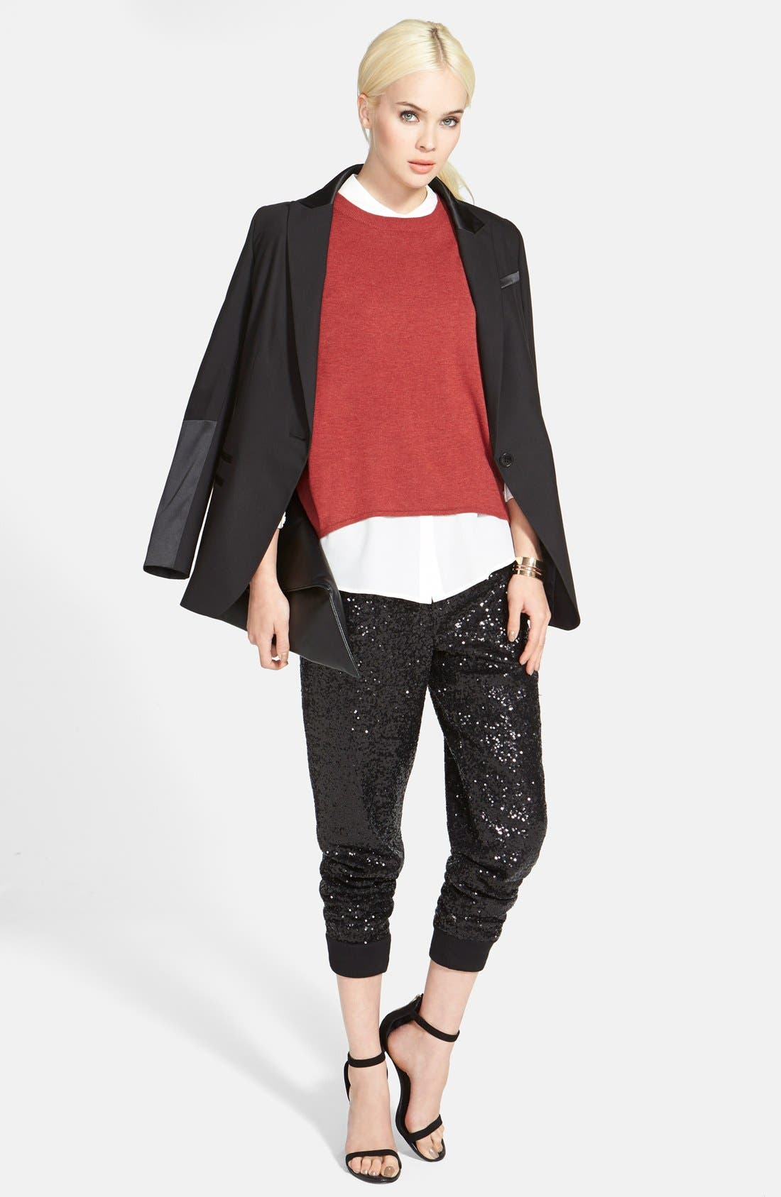 Alternate Image 4  - Trouvé Sequin Track Pants