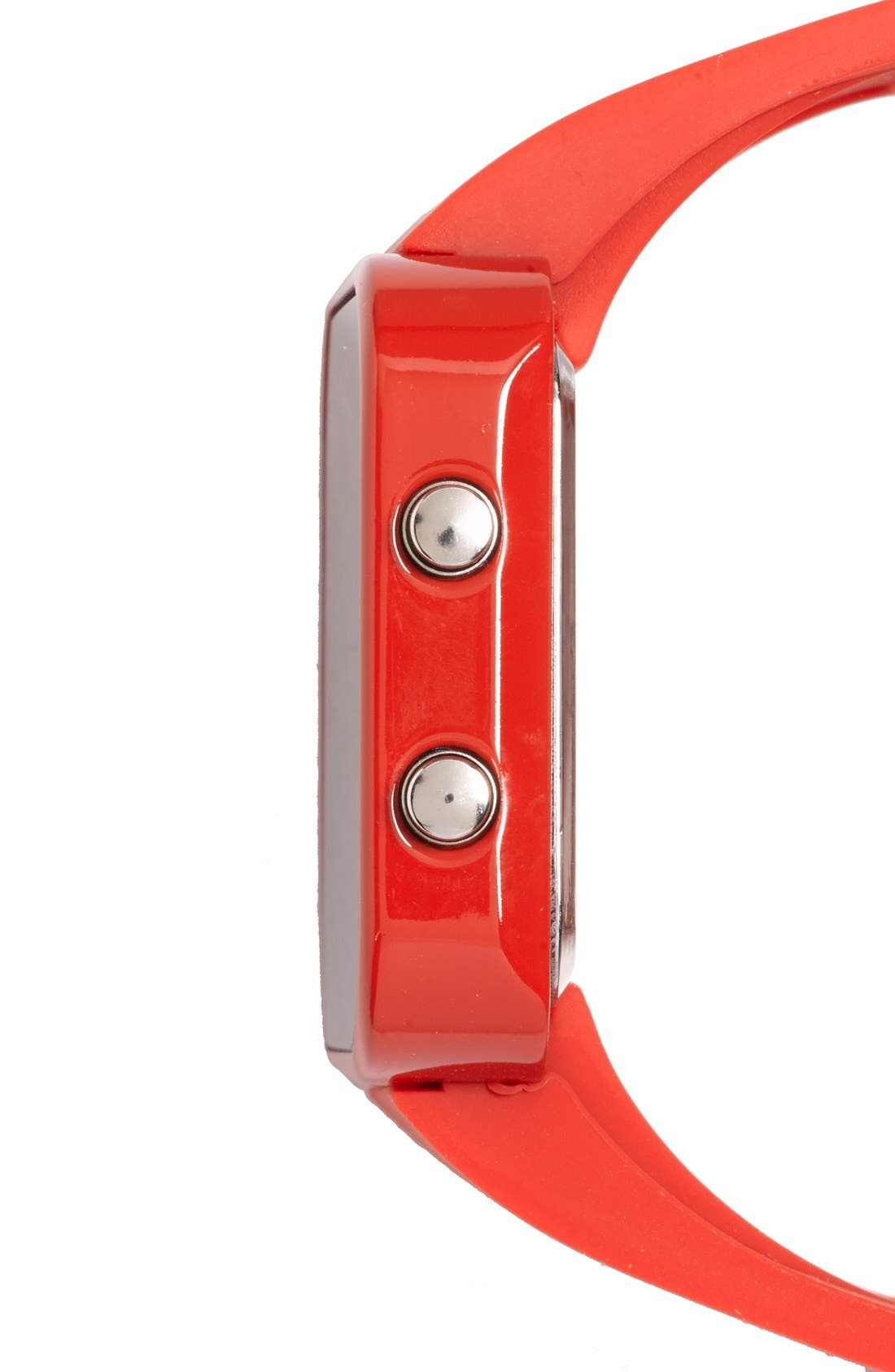 Alternate Image 5  - 1:Face 'AIDS' Square Digital Silicone Strap Watch, 38mm