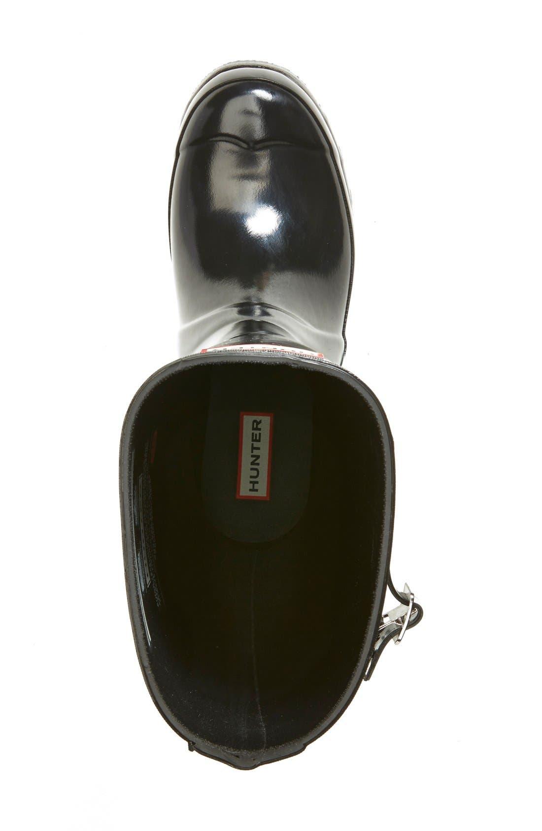 Alternate Image 5  - Hunter Adjustable Back Gloss Rain Boot (Women)