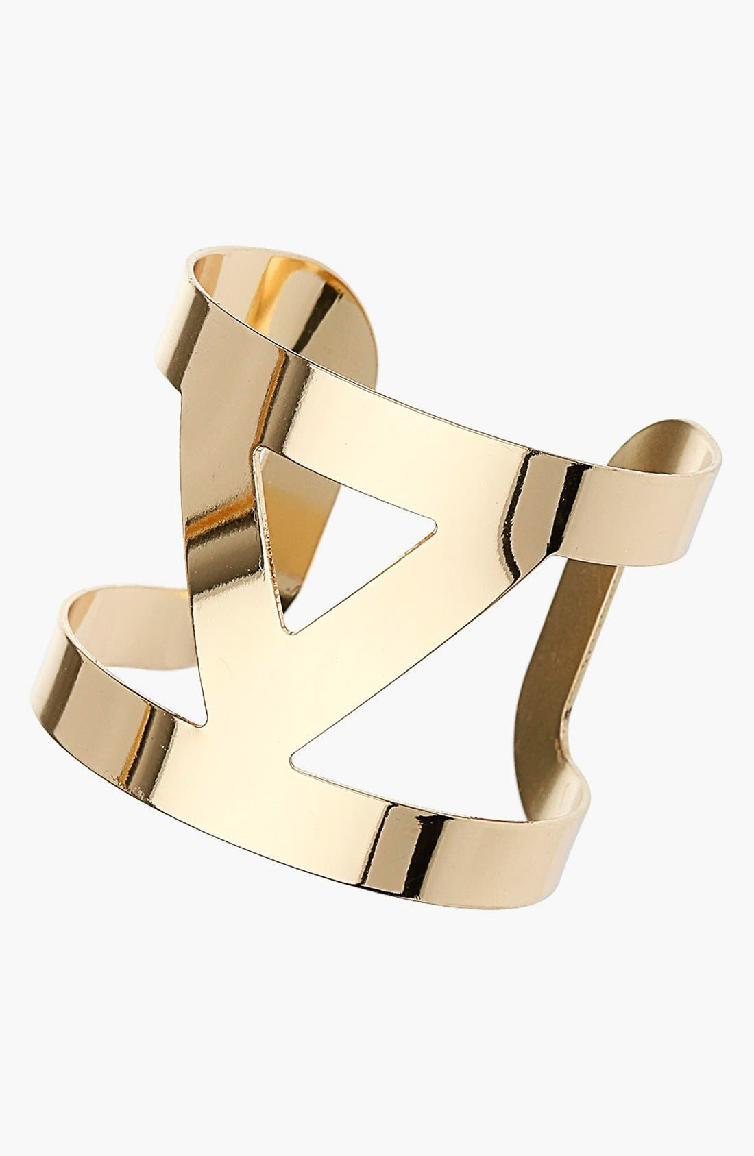 Alternate Image 1 Selected - Topshop Triangle Cutout Cuff
