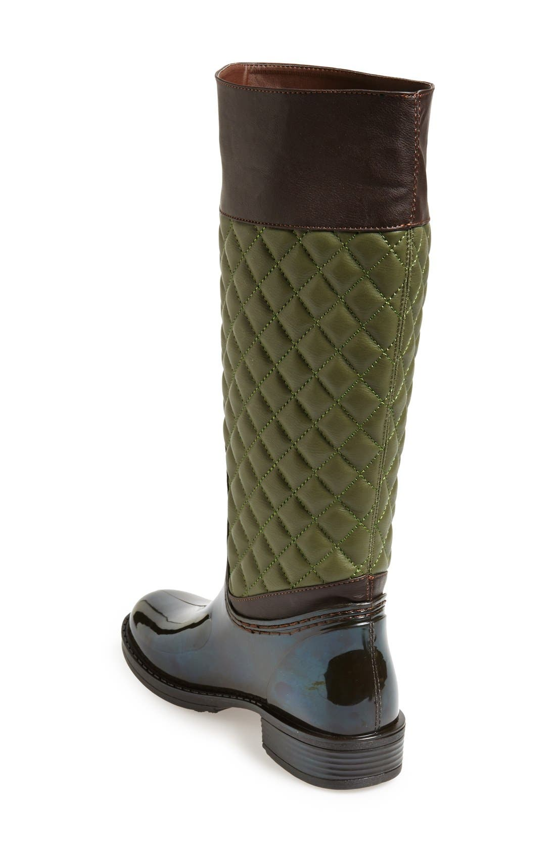 Alternate Image 2  - Posh Wellies 'Quizz' Quilted Tall Rain Boot (Women)
