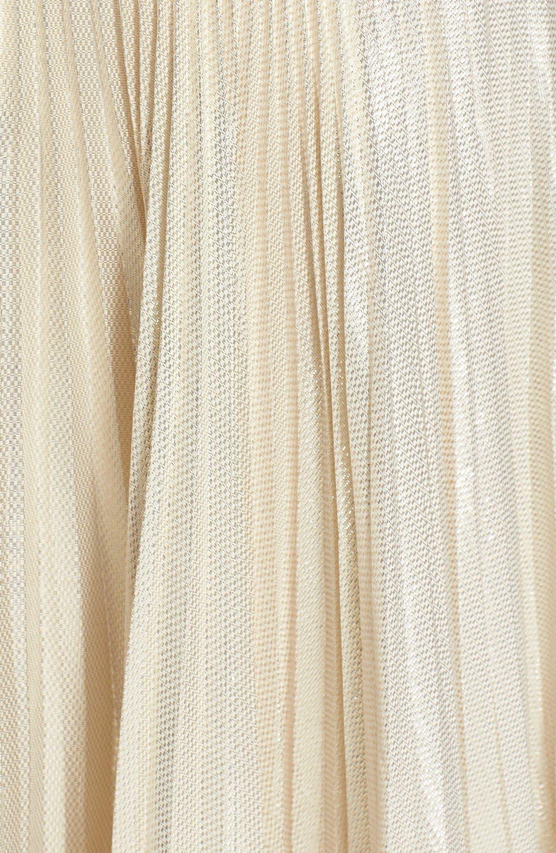 Alternate Image 3  - Jill Jill Stuart Metallic Silk Blend Midi Dress