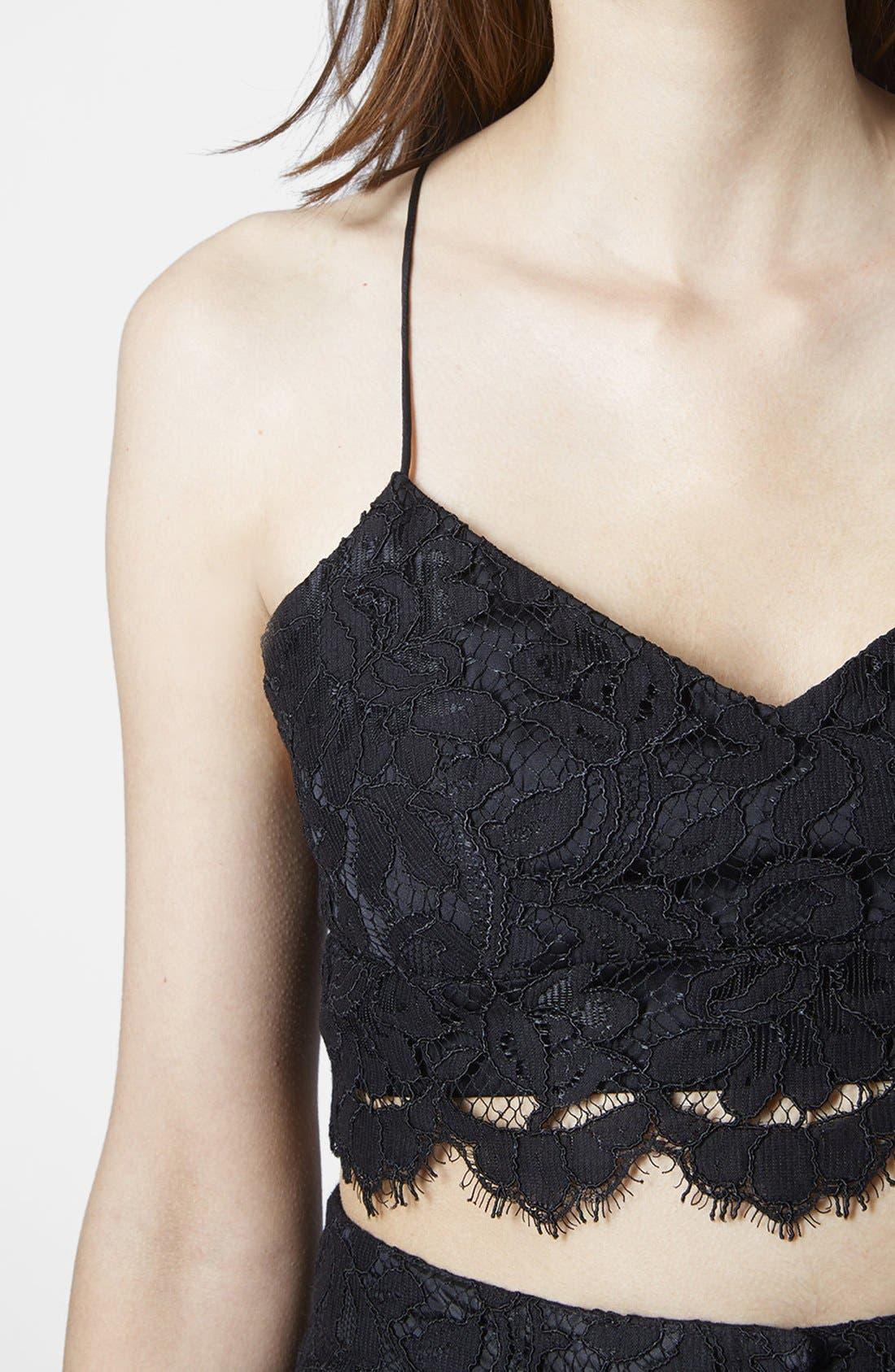 Alternate Image 4  - Topshop Strap Lace Bralette