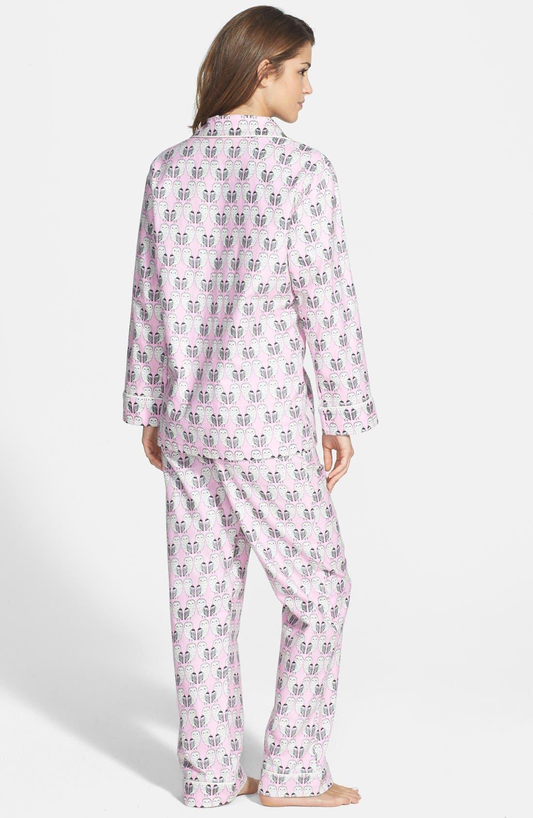 Alternate Image 2  - BedHead Notch Collar Flannel Pajamas