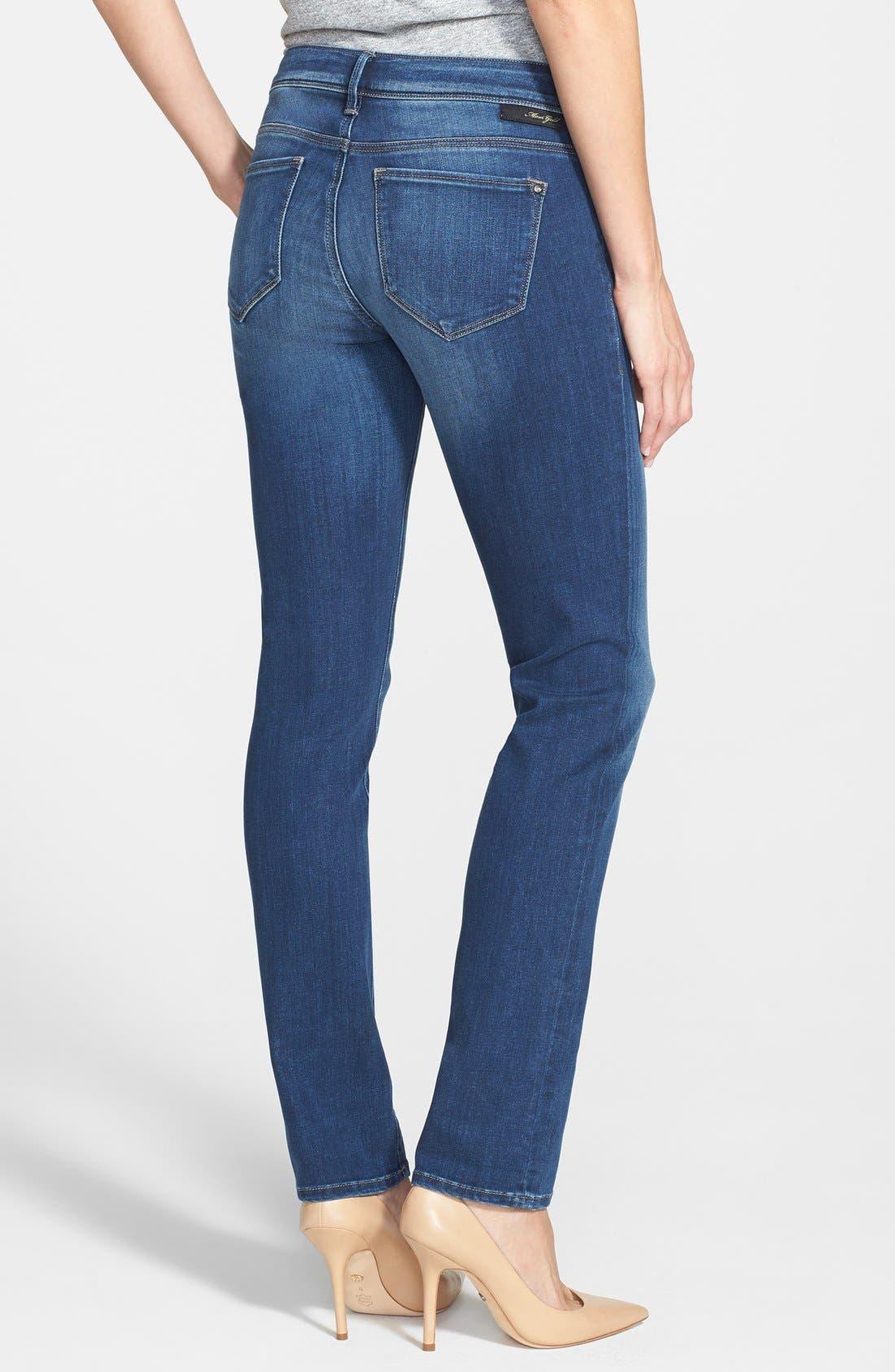 Alternate Image 2  - Mavi Jeans Gold 'Emma' Slim Boyfriend Jeans (Dark)