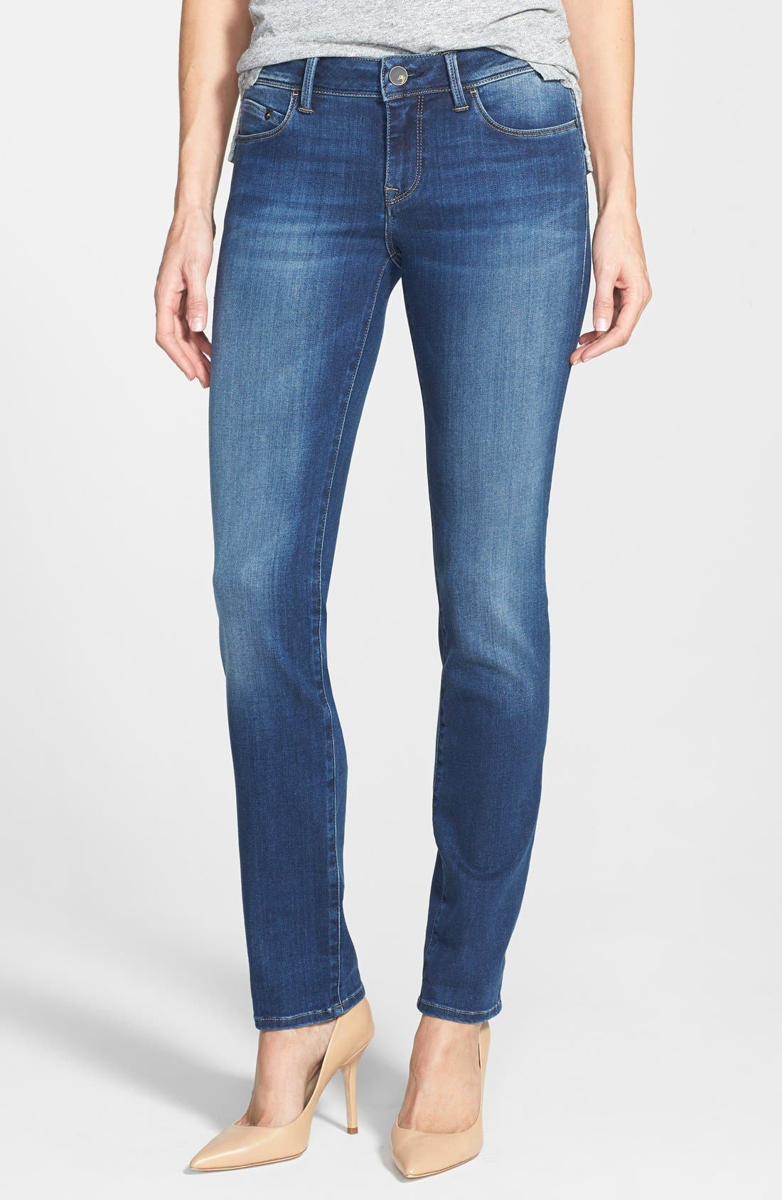 Alternate Image 1 Selected - Mavi Jeans Gold 'Emma' Slim Boyfriend Jeans (Dark)