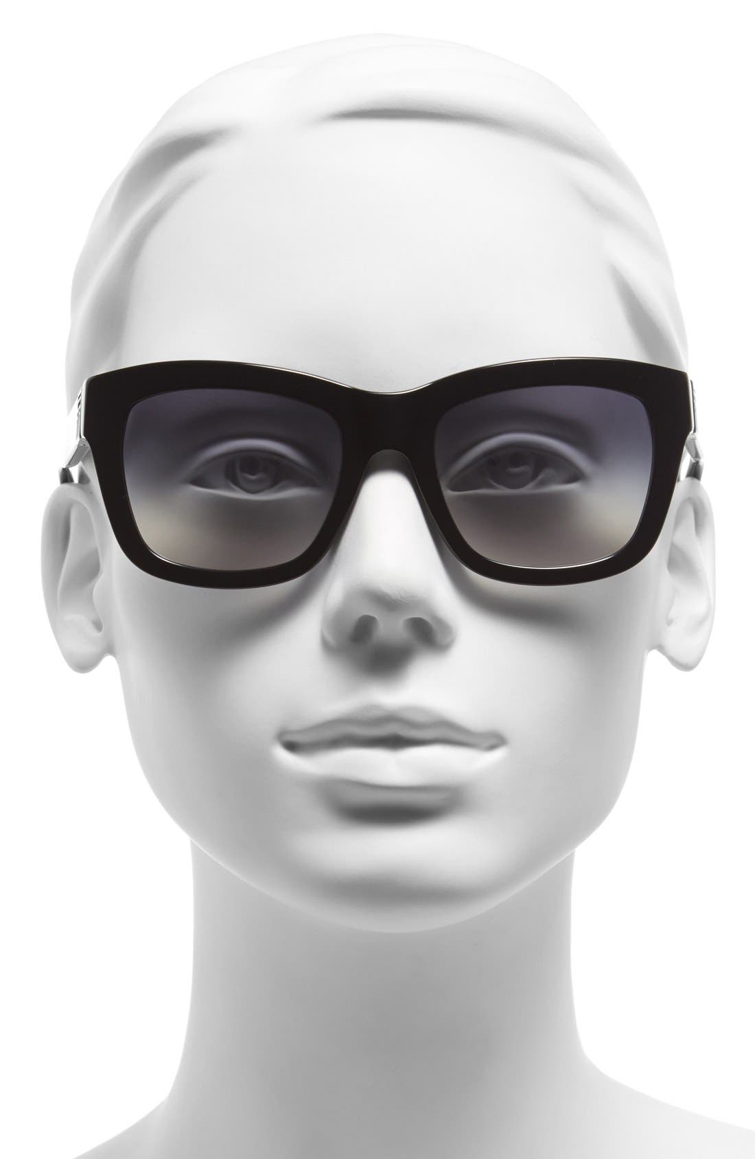 Alternate Image 2  - Tory Burch 52mm Square Sunglasses
