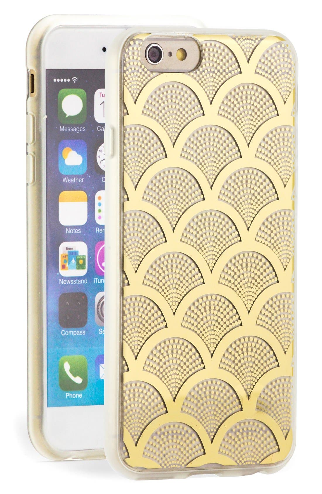 Alternate Image 1 Selected - Sonix 'Gold Lace' Clear iPhone 6 Case