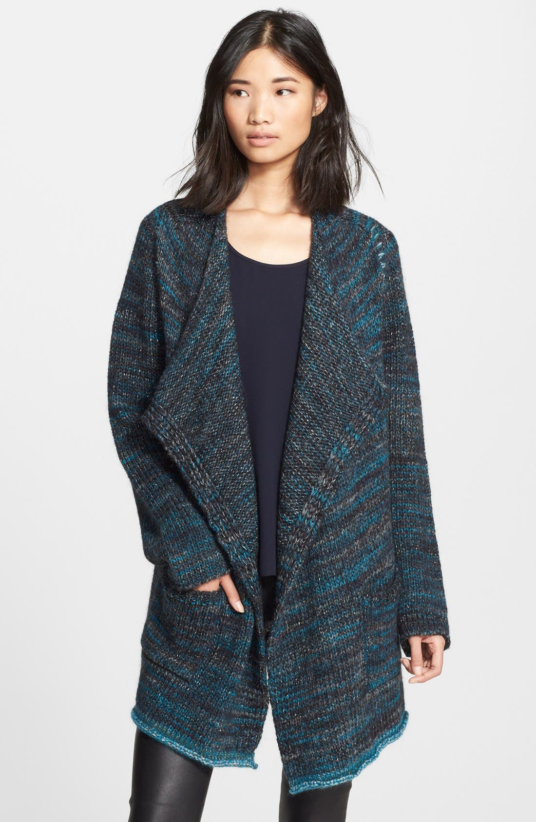 Main Image - Zadig & Voltaire 'Daphnee' Drape Wool Blend Cardigan