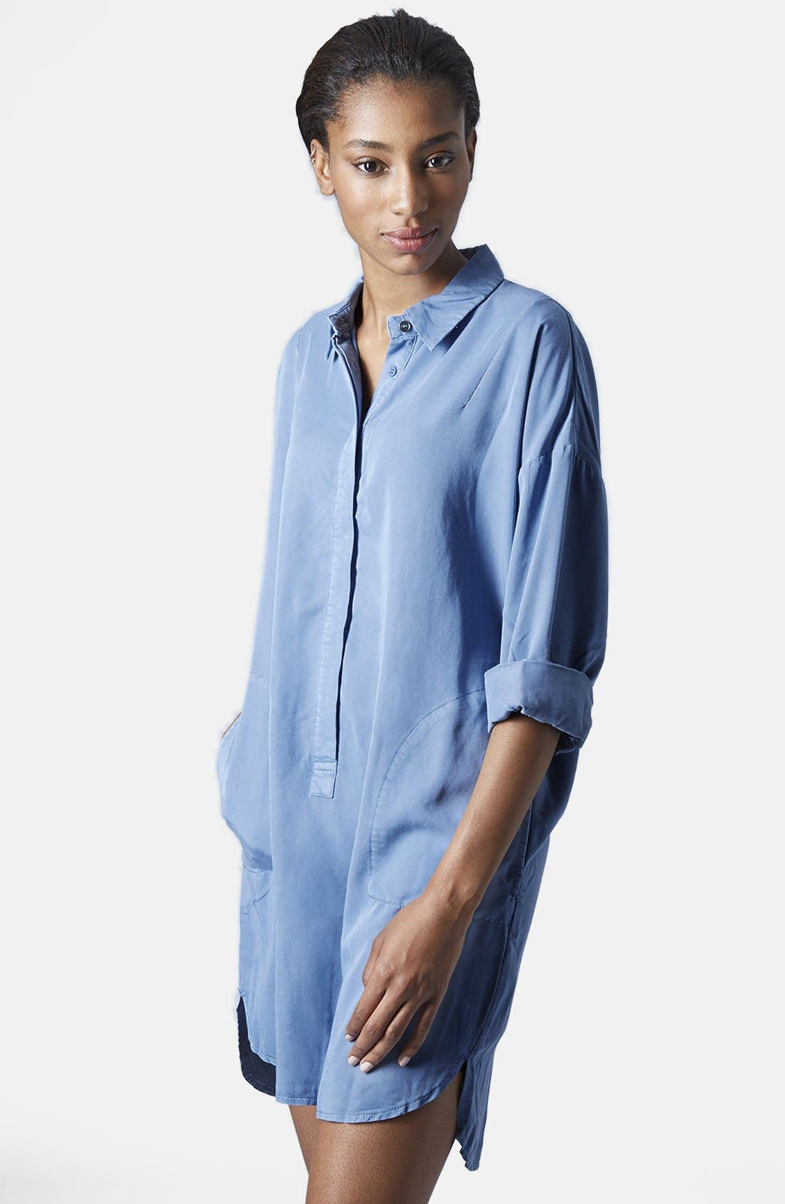 Alternate Image 1 Selected - Topshop Relaxed Shirtdress