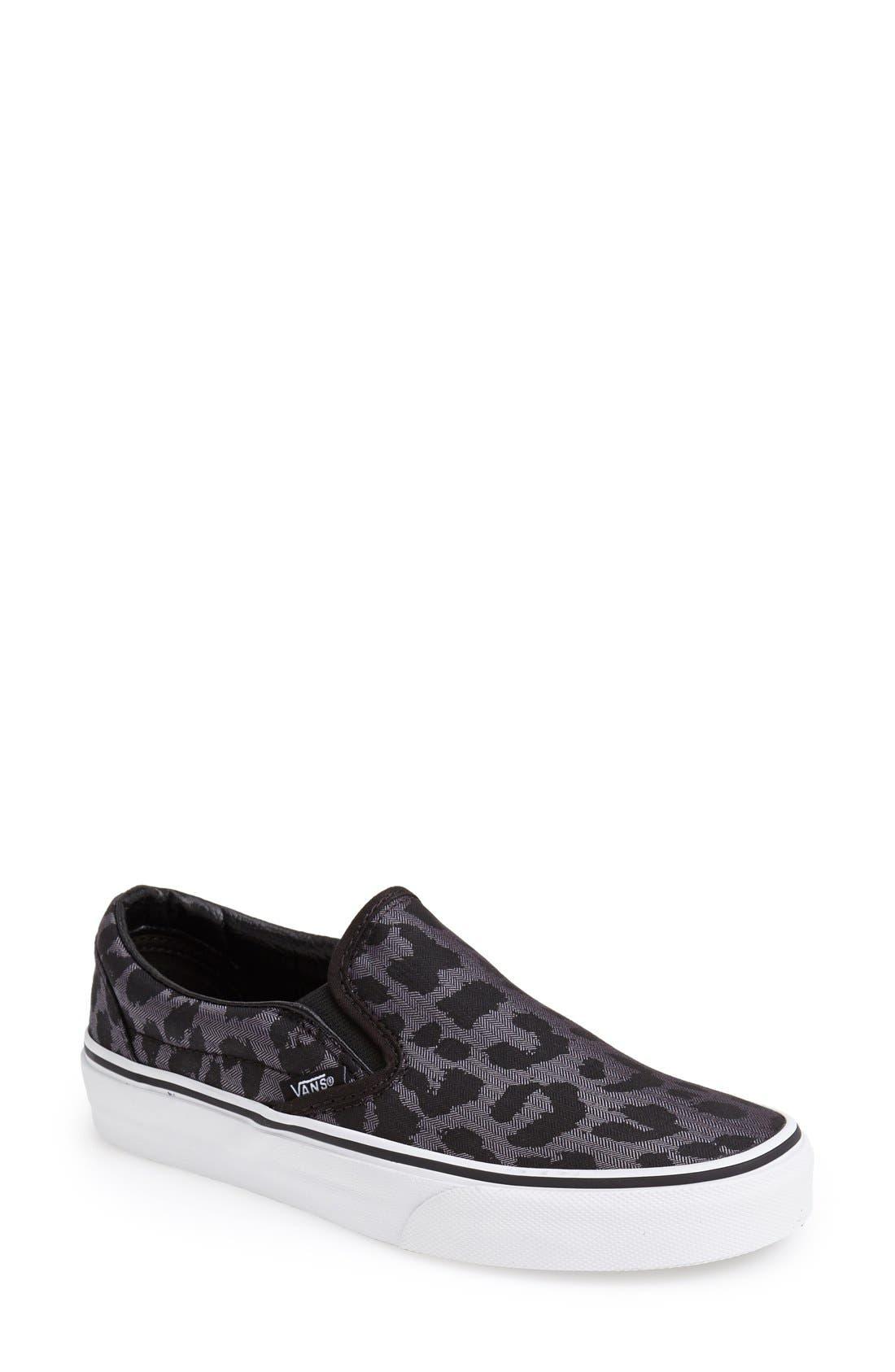 Main Image - Vans Leopard Spot Slip-On Sneaker (Women)