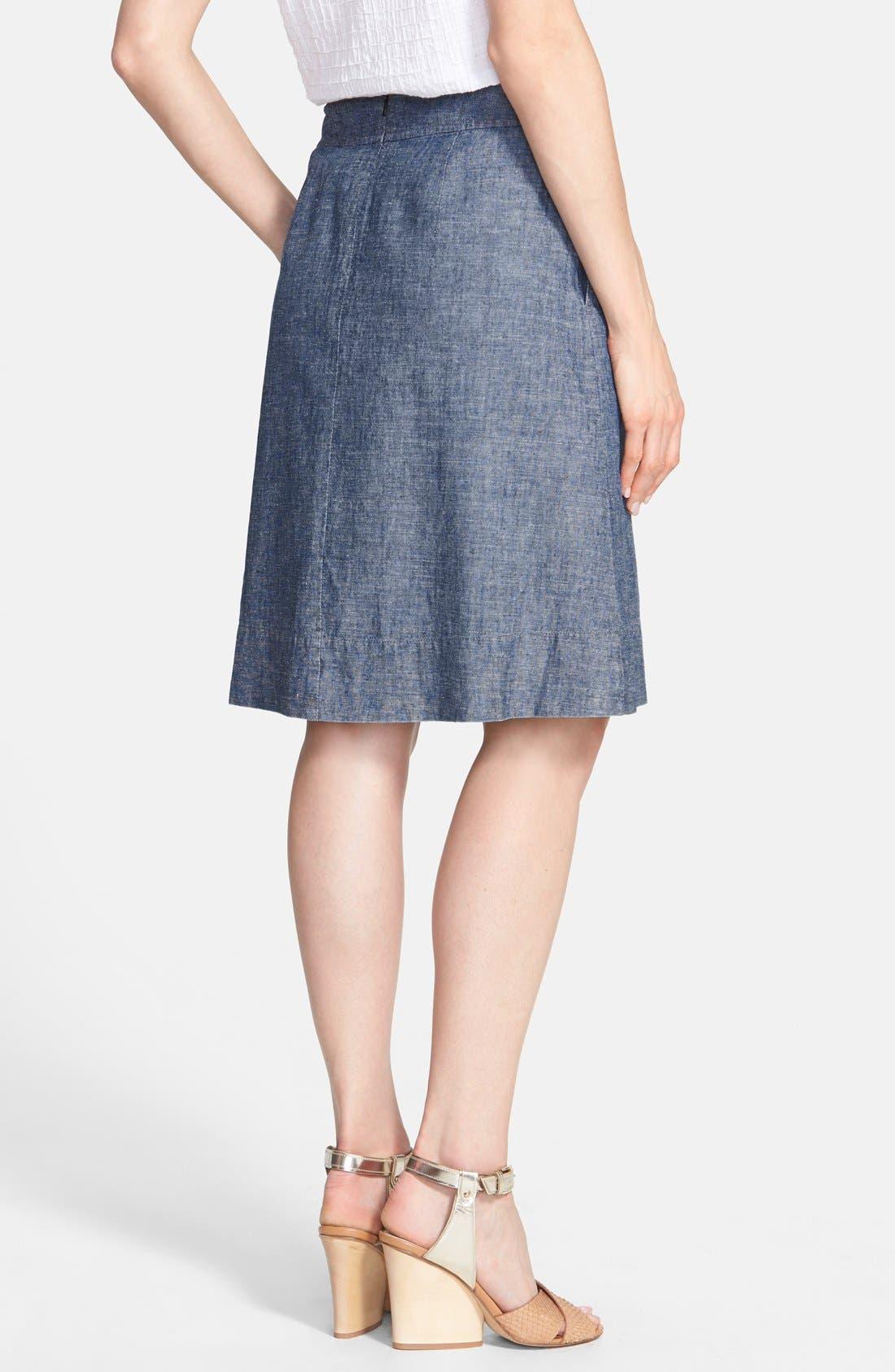 Alternate Image 2  - Eileen Fisher Hemp & Organic Cotton A-Line Skirt (Regular & Petite)