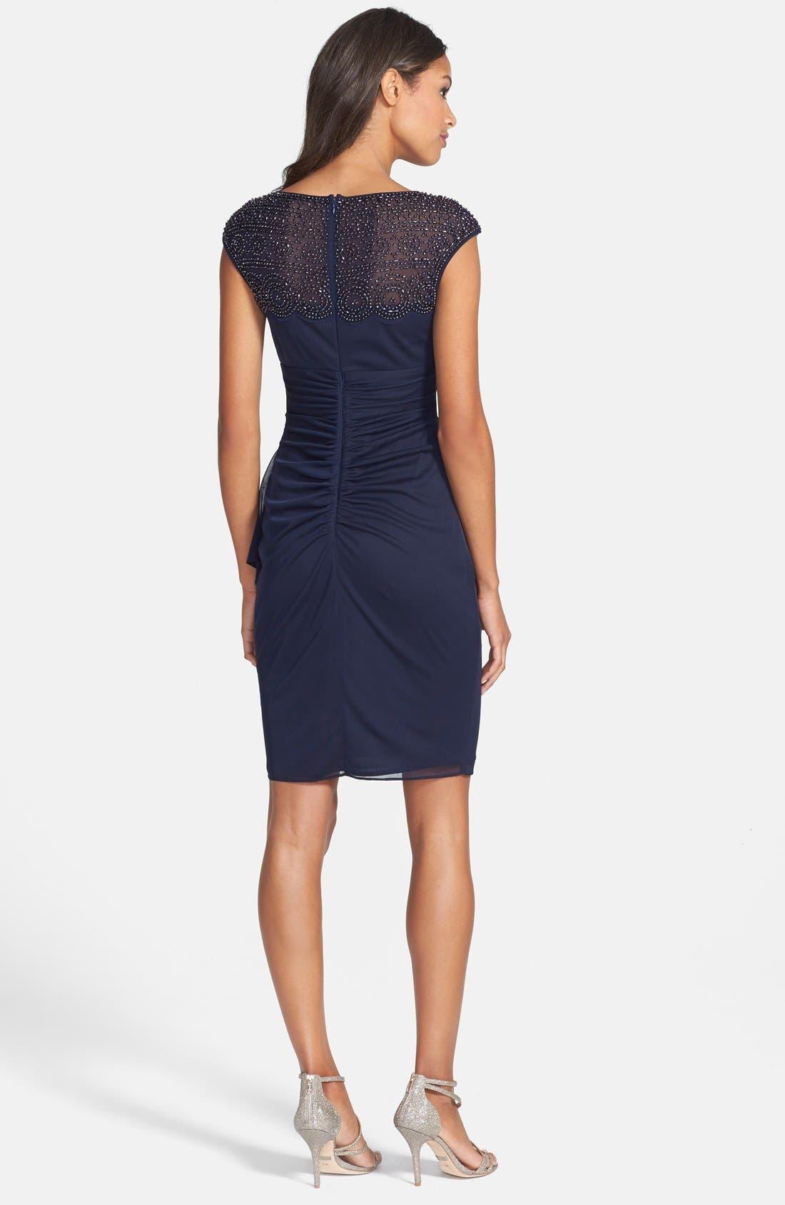 Alternate Image 2  - Xscape Beaded Jersey Sheath Dress