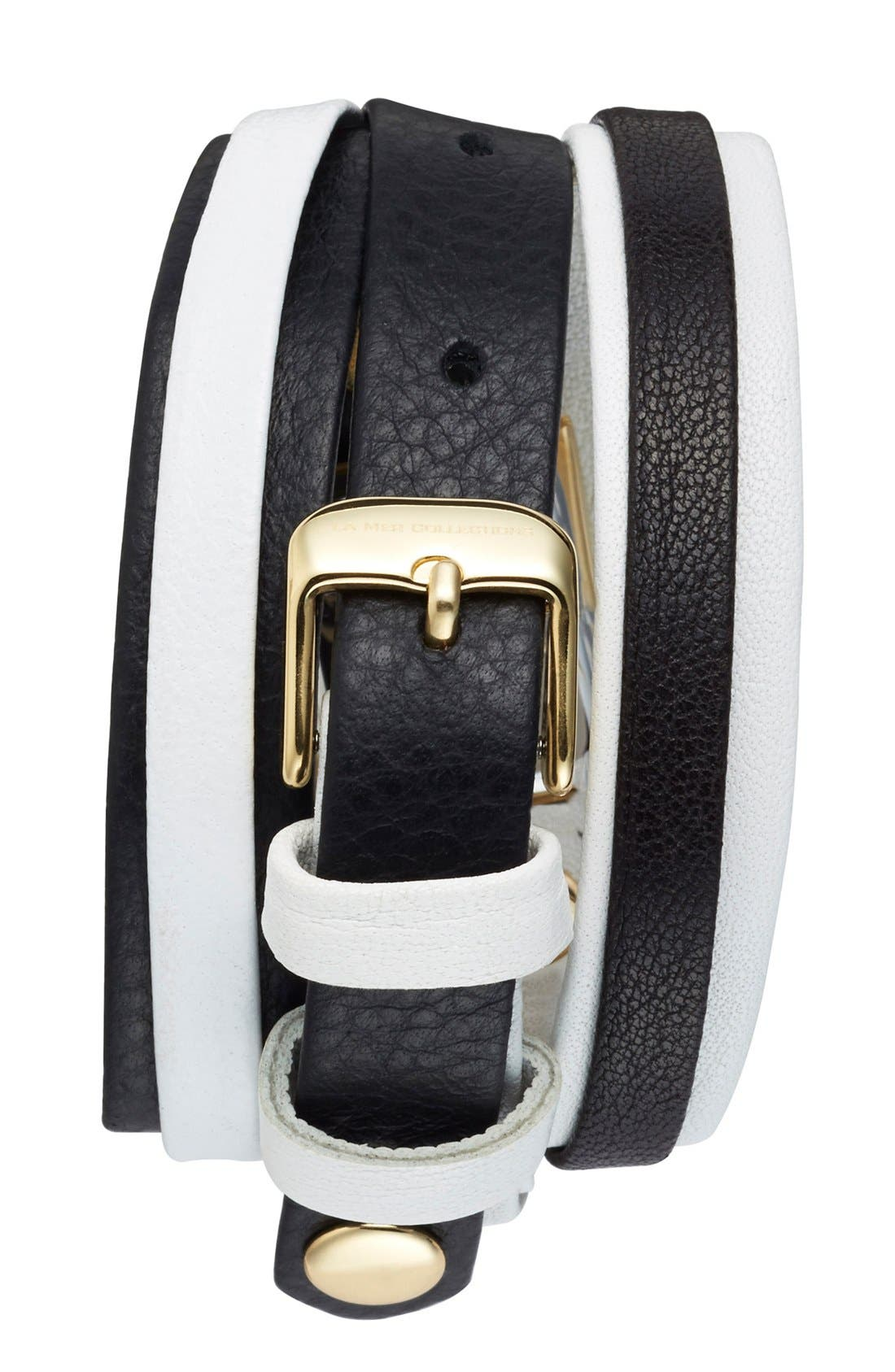 Alternate Image 2  - La Mer Collections 'Mix Up' Leather Wrap Watch