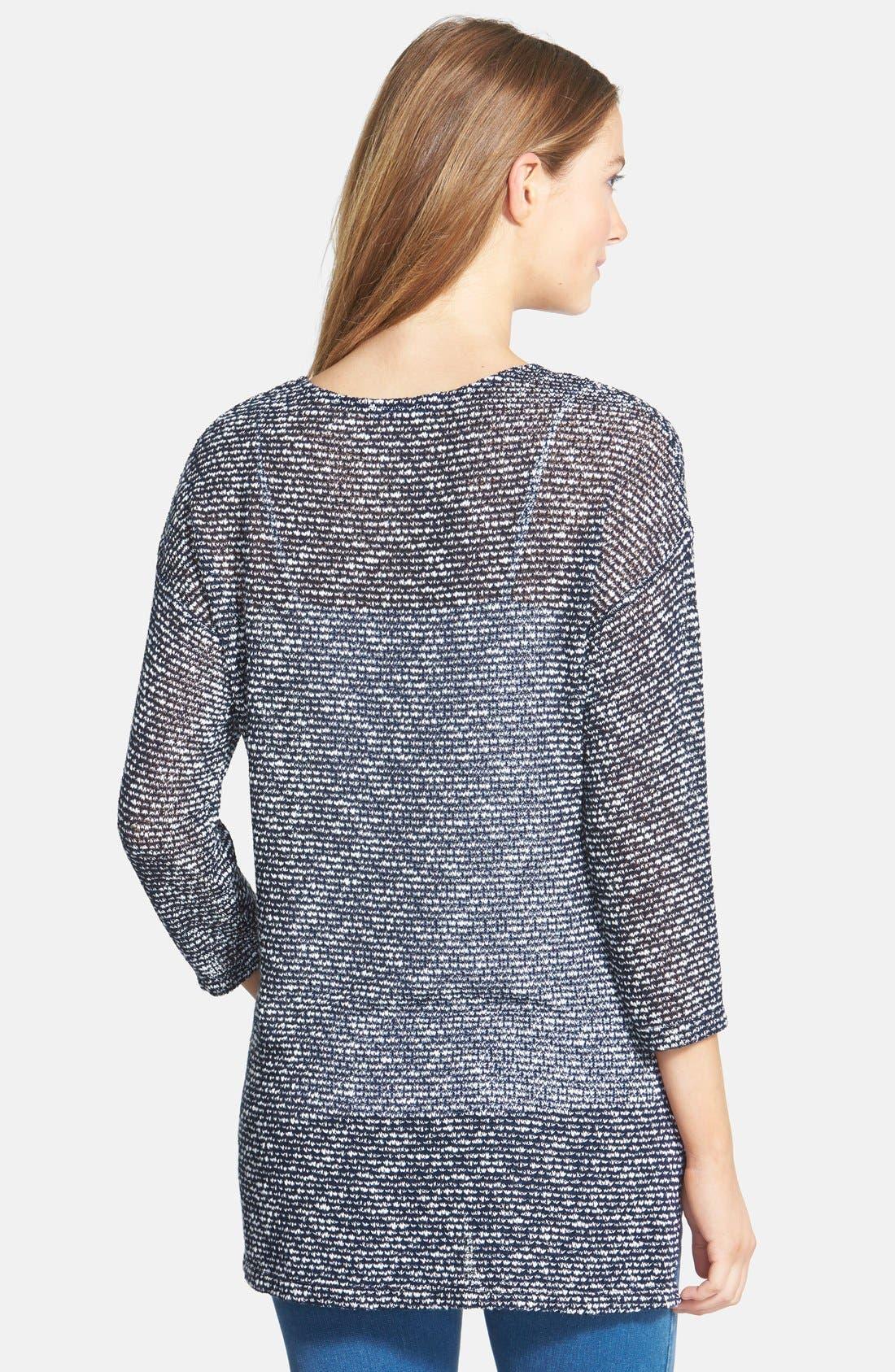 Alternate Image 2  - Olivia Moon Open Stitch Tunic Sweater