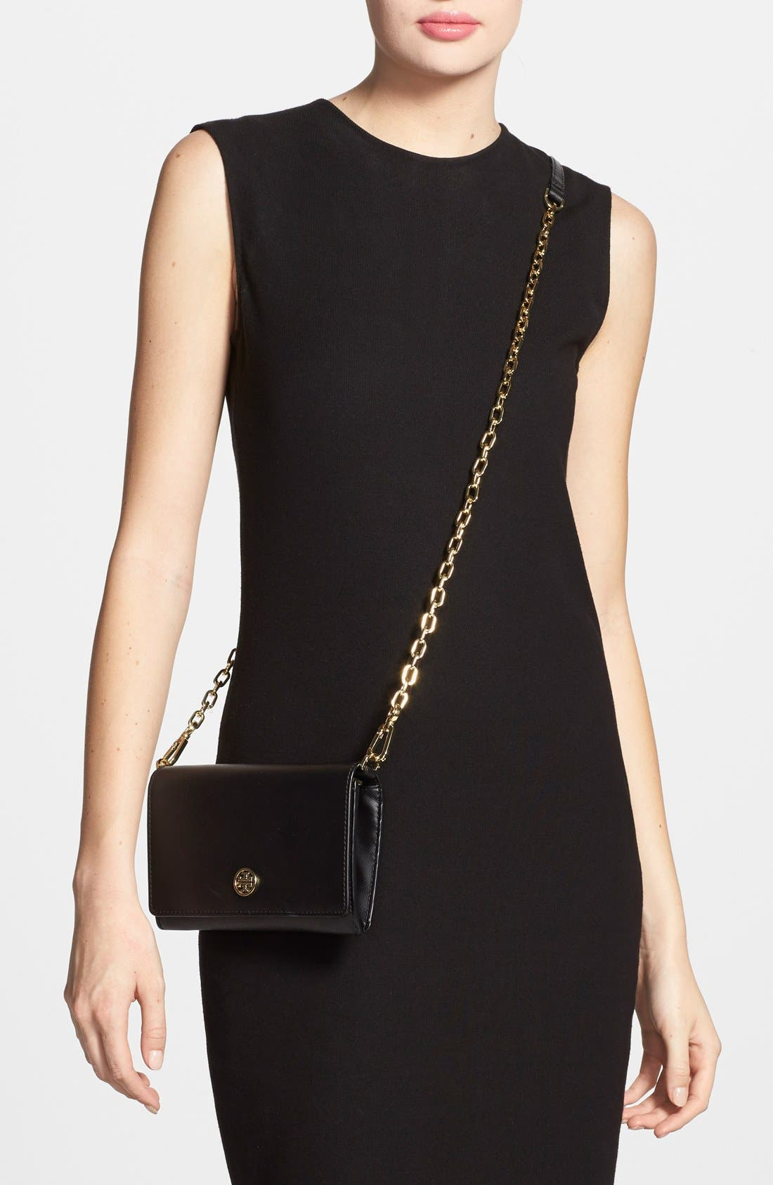 Alternate Image 2  - Tory Burch 'Robinson' Leather Wallet on a Chain