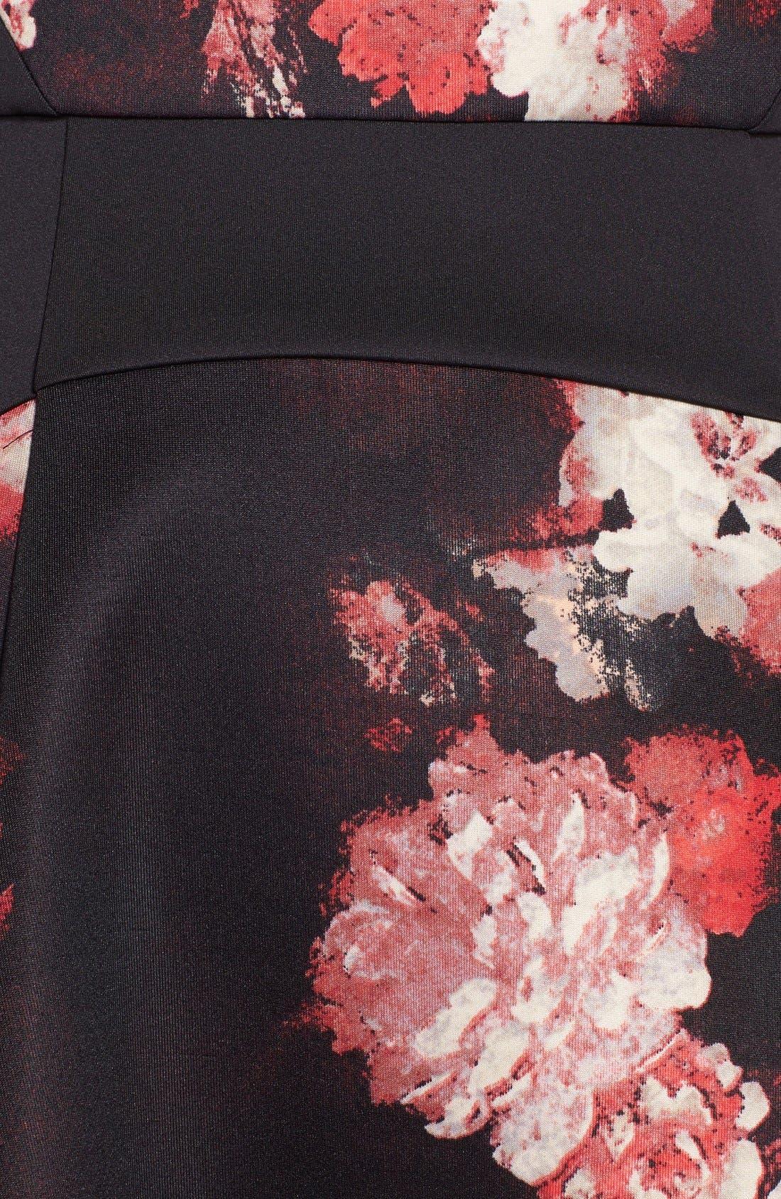 Alternate Image 4  - Adrianna Papell Print Scuba Fit & Flare Dress