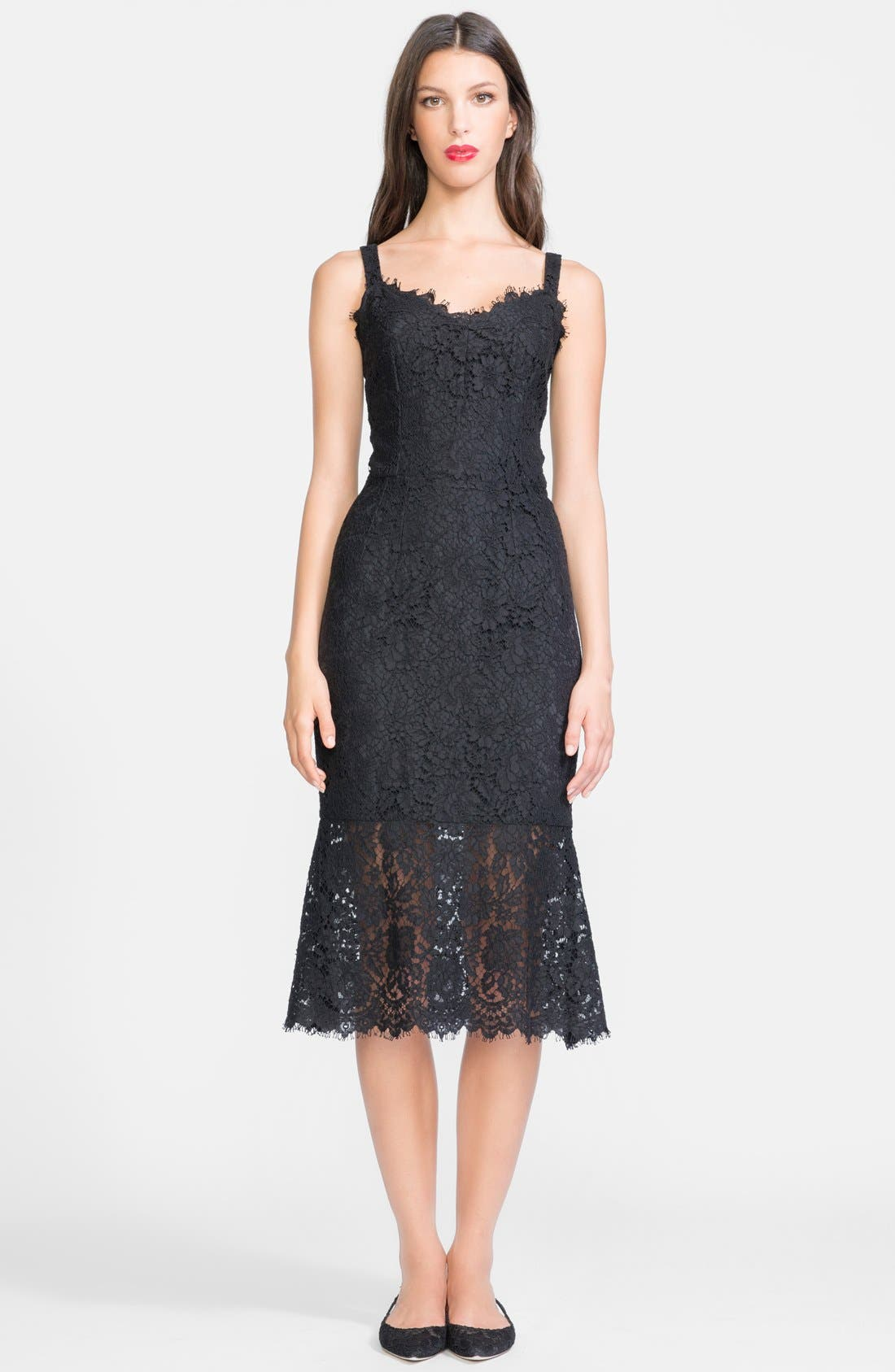 Alternate Image 1 Selected - Dolce&Gabbana Lace Tank Midi Dress