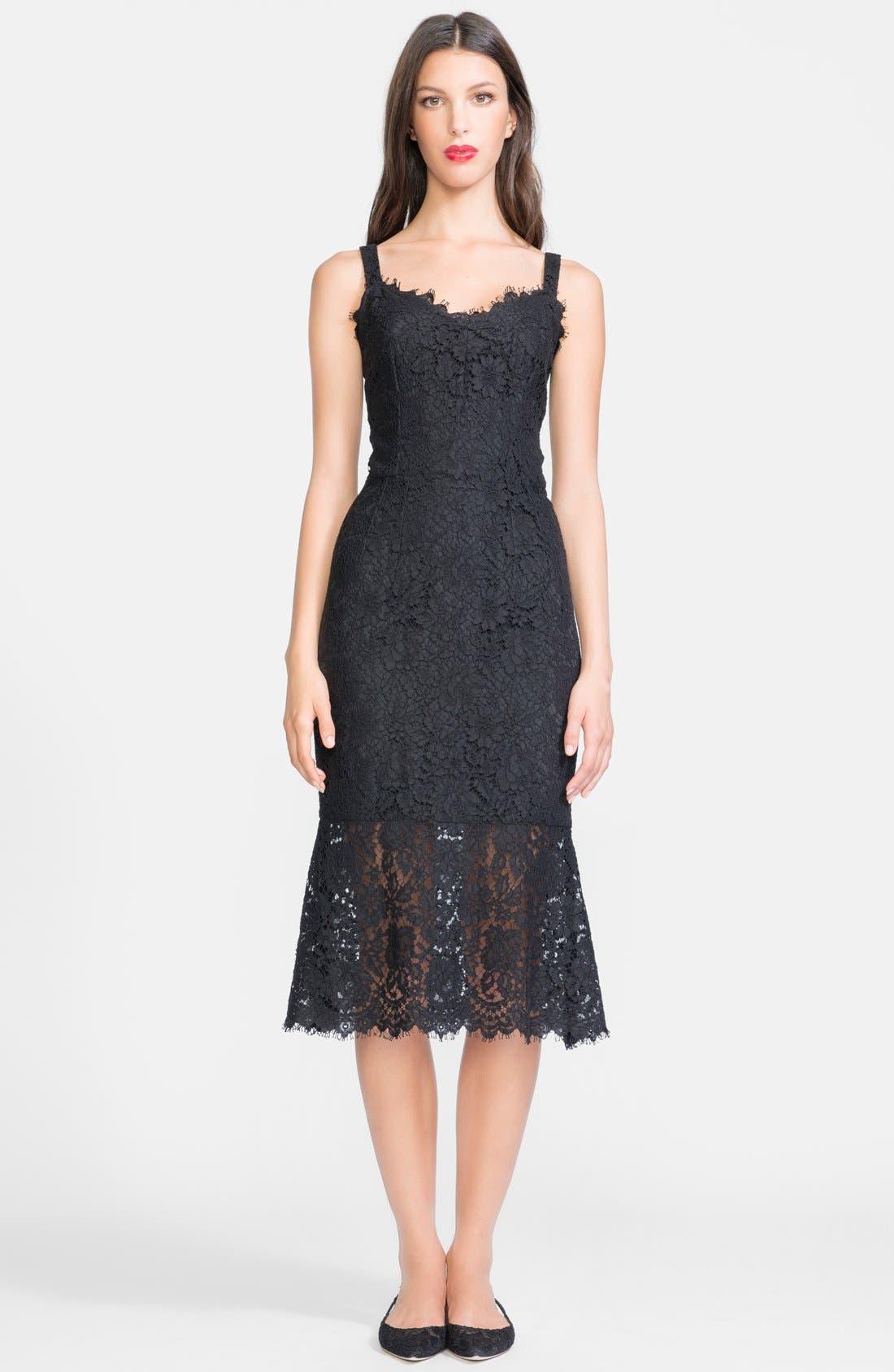 Main Image - Dolce&Gabbana Lace Tank Midi Dress
