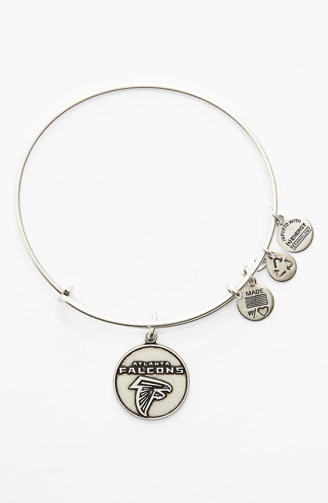 Alternate Image 1 Selected - Alex and Ani 'NFL - Atlanta Falcons' Adjustable Wire Bracelet