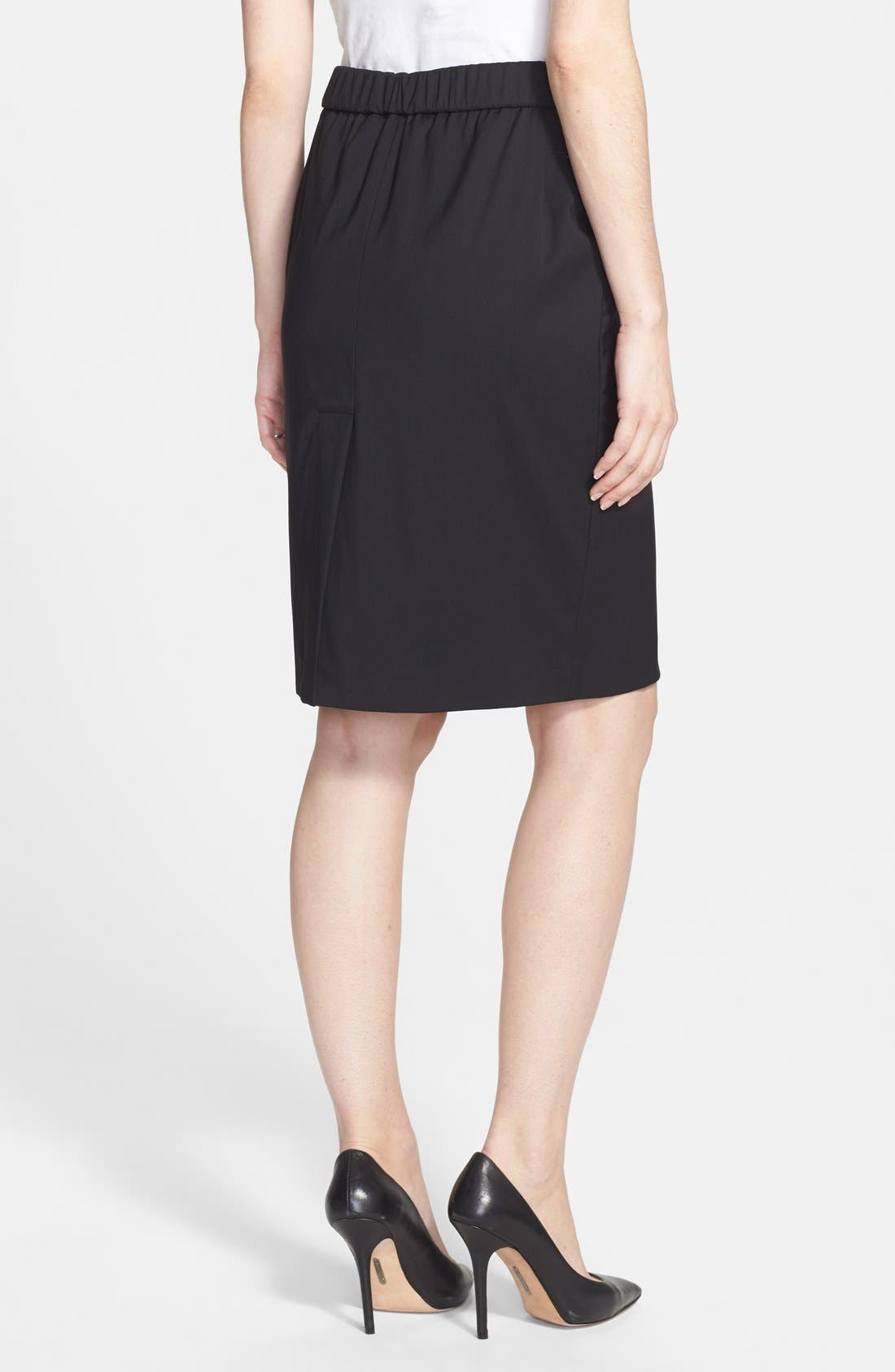 Alternate Image 2  - Eva Alexander London Tailored Maternity Pencil Skirt