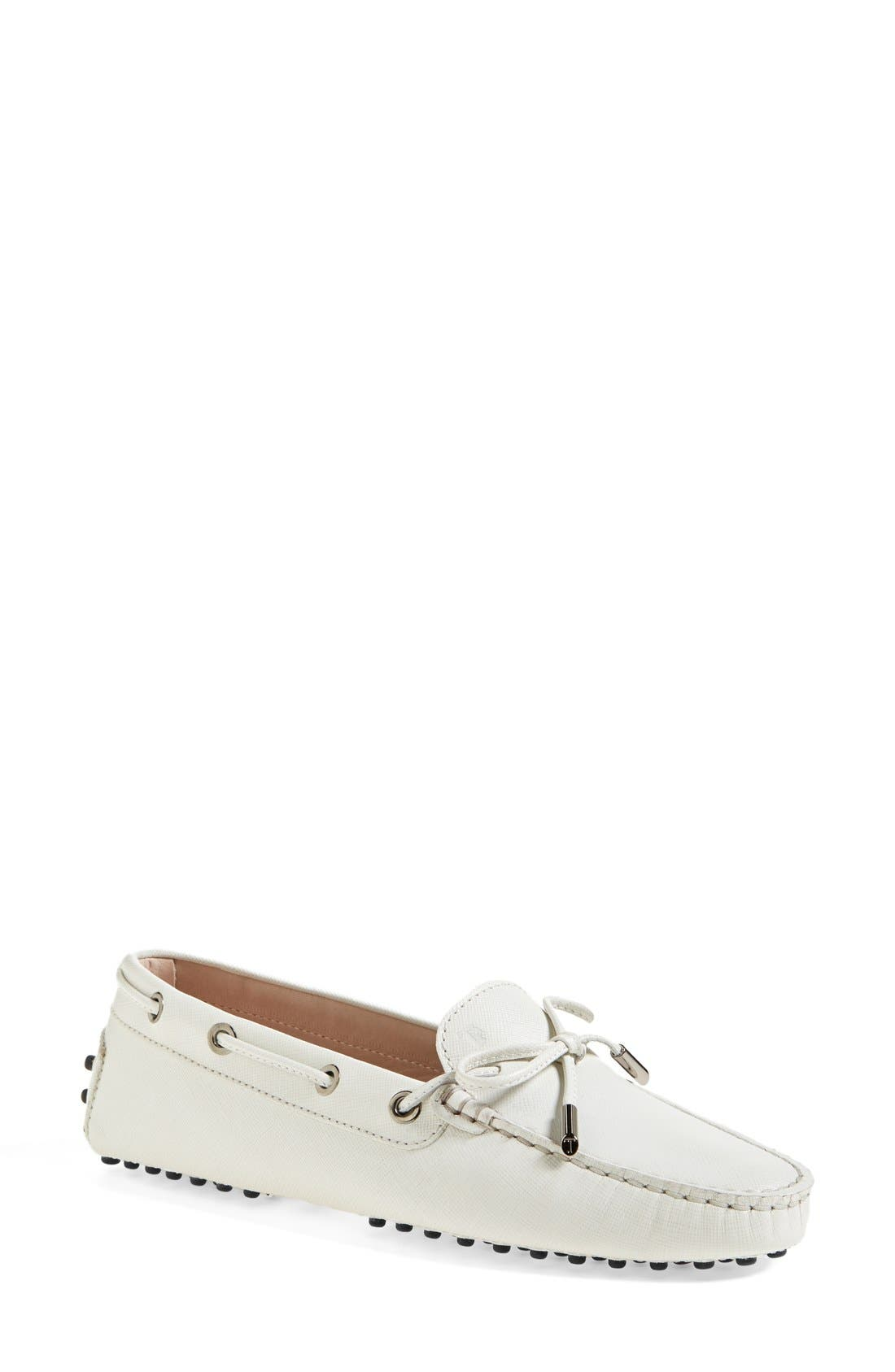 Main Image - Tod's 'Gommini' Tie Front Leather Driving Moccasin (Women)